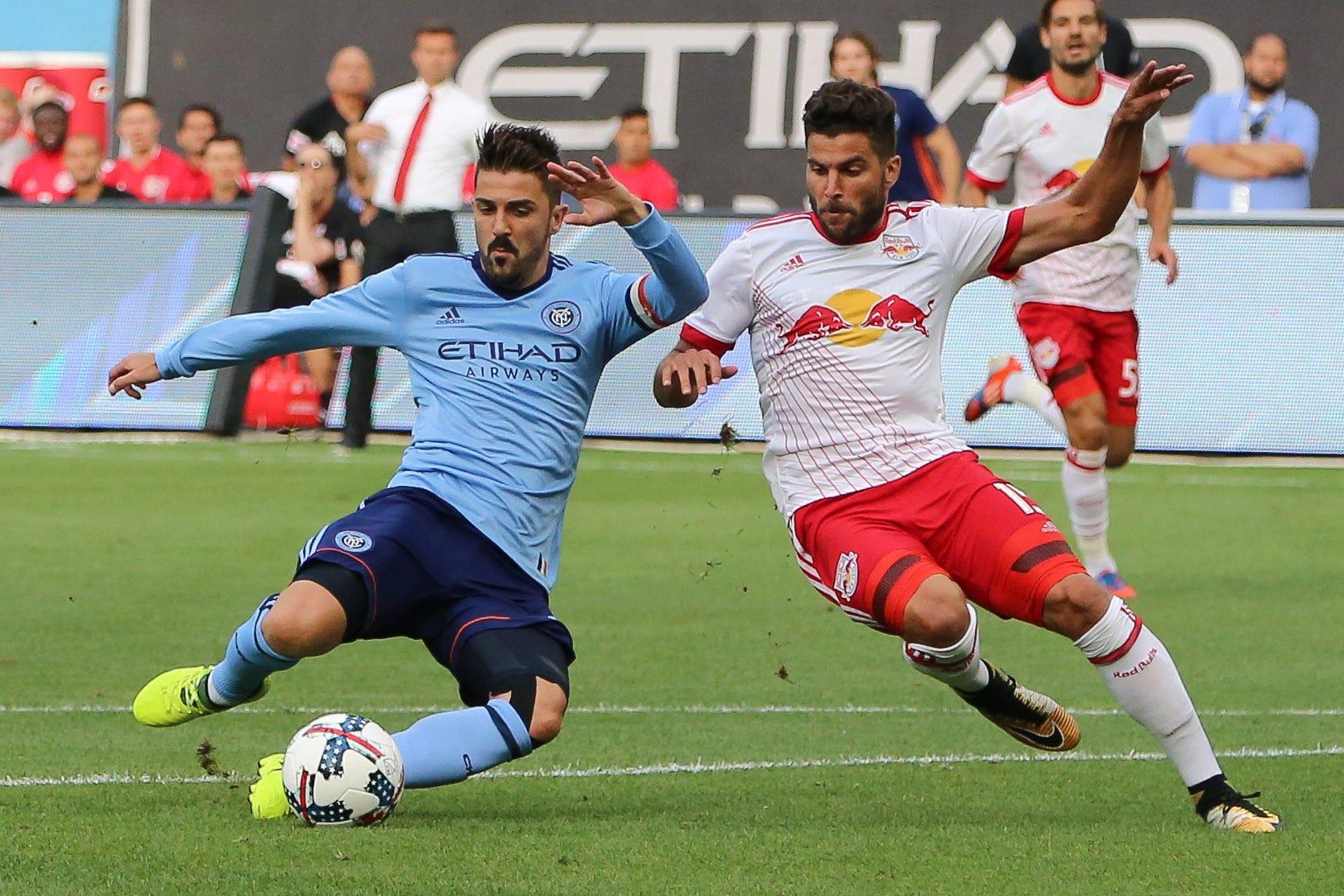 David Villa outduels Bradley Wright-Phillips as NYCFC beats Red Bulls