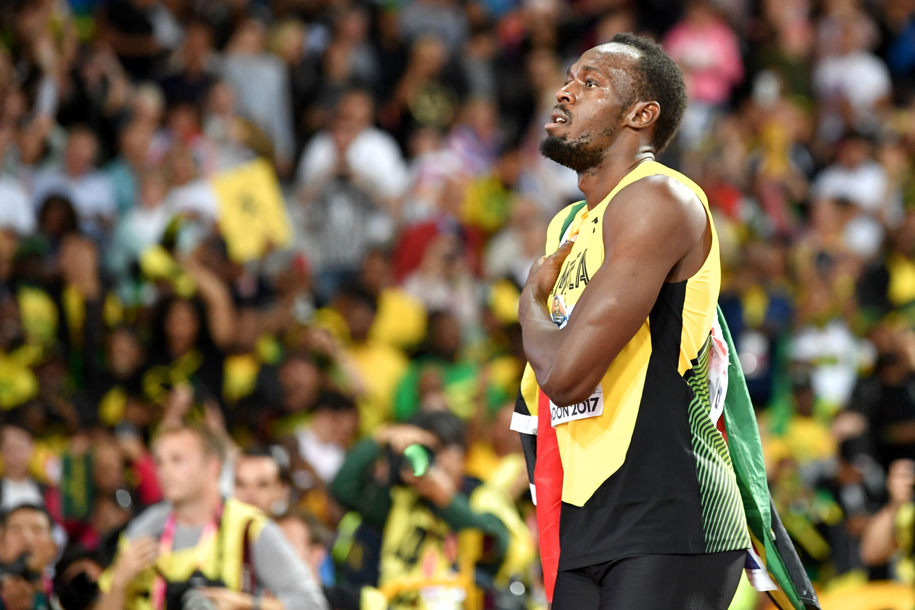 Watch Usain Bolt stunningly lose last 100-meter race