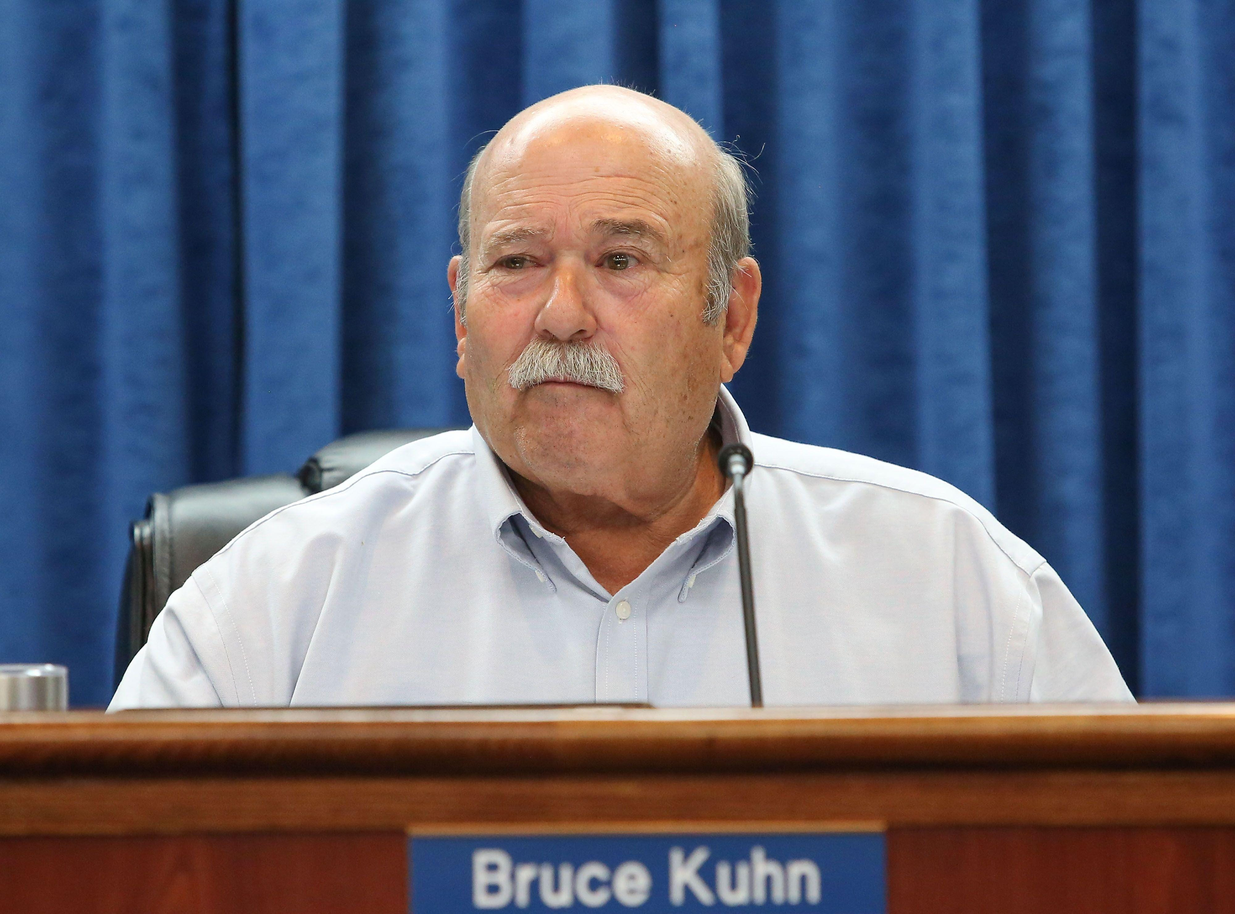 Bruce Kuhn of the Imperial Irrigation District's board of directors, seen at a board meeting on July 18, 2017.