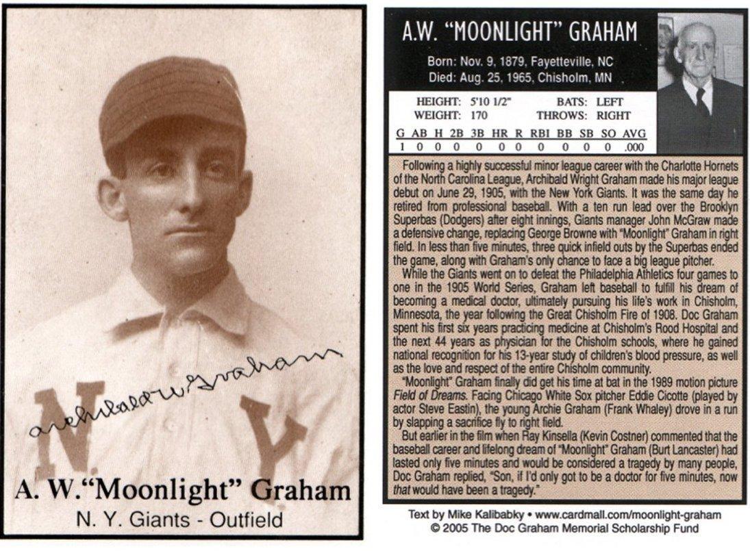 Reflections on `Moonlight` Graham, Iowa baseball