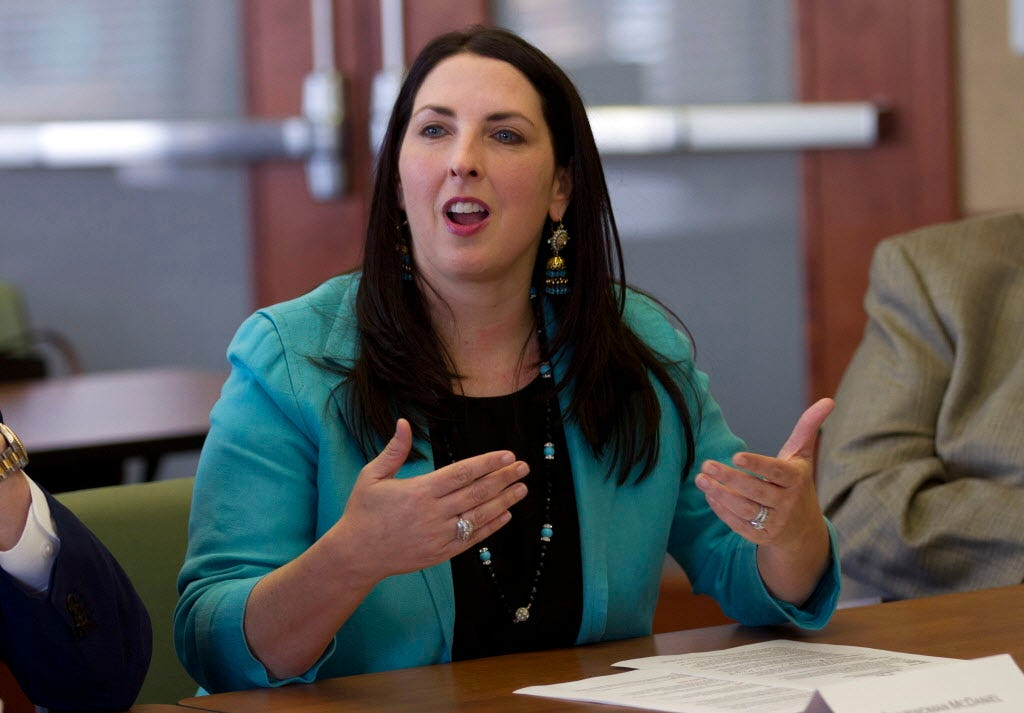 RNC chairwoman Ronna McDaniel says she personally opposes portions of Alabama's abortion law