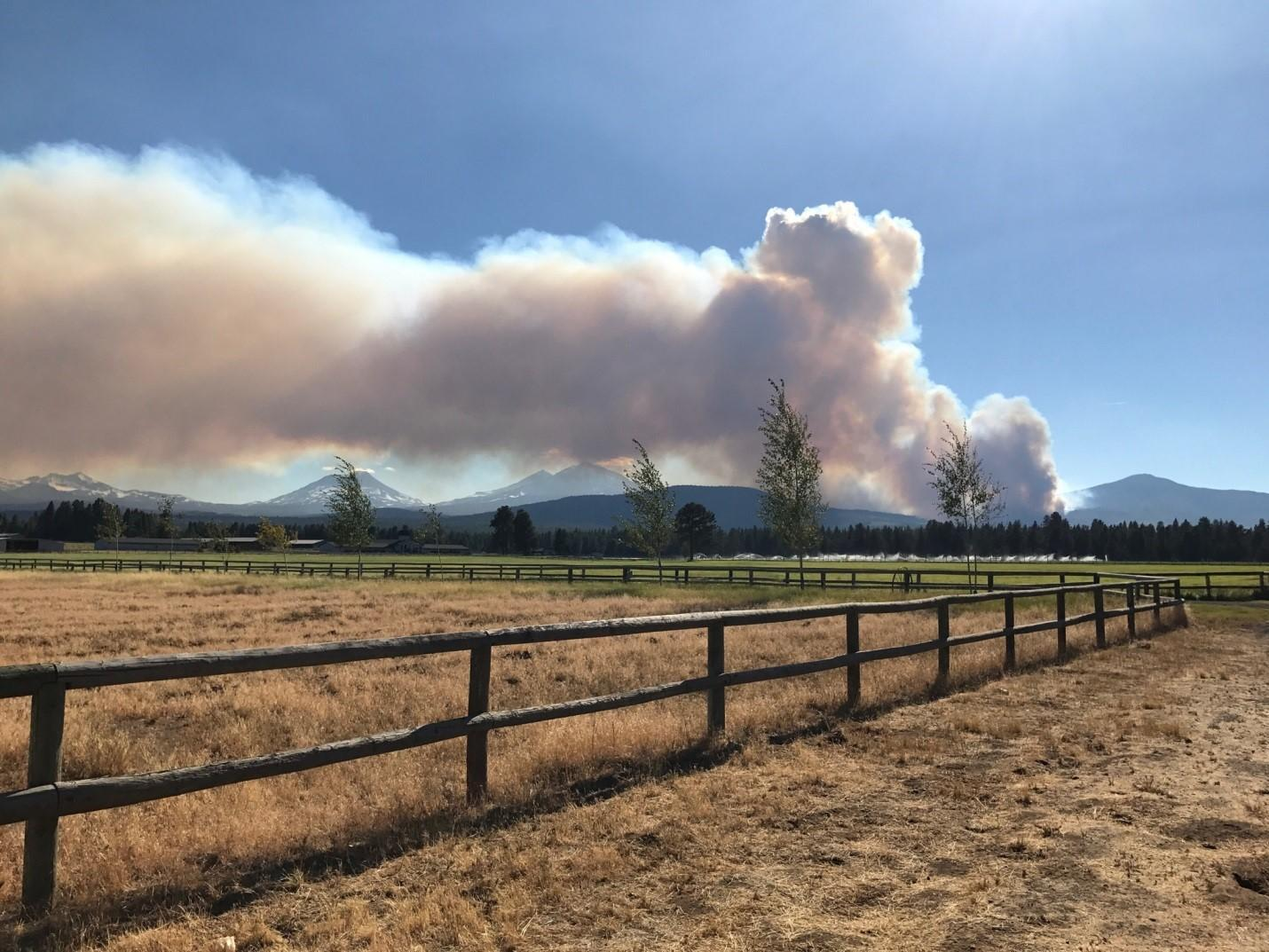 The Milli Fire threatened the Central Oregon town of Sisters in 2017.