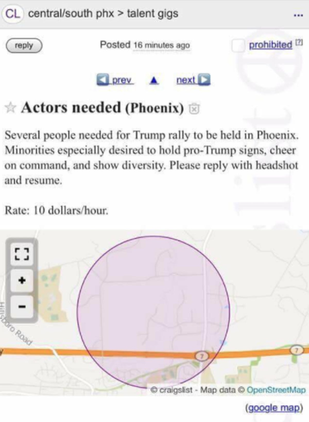 Mystery Craigslist ad offers pay for Trump support at