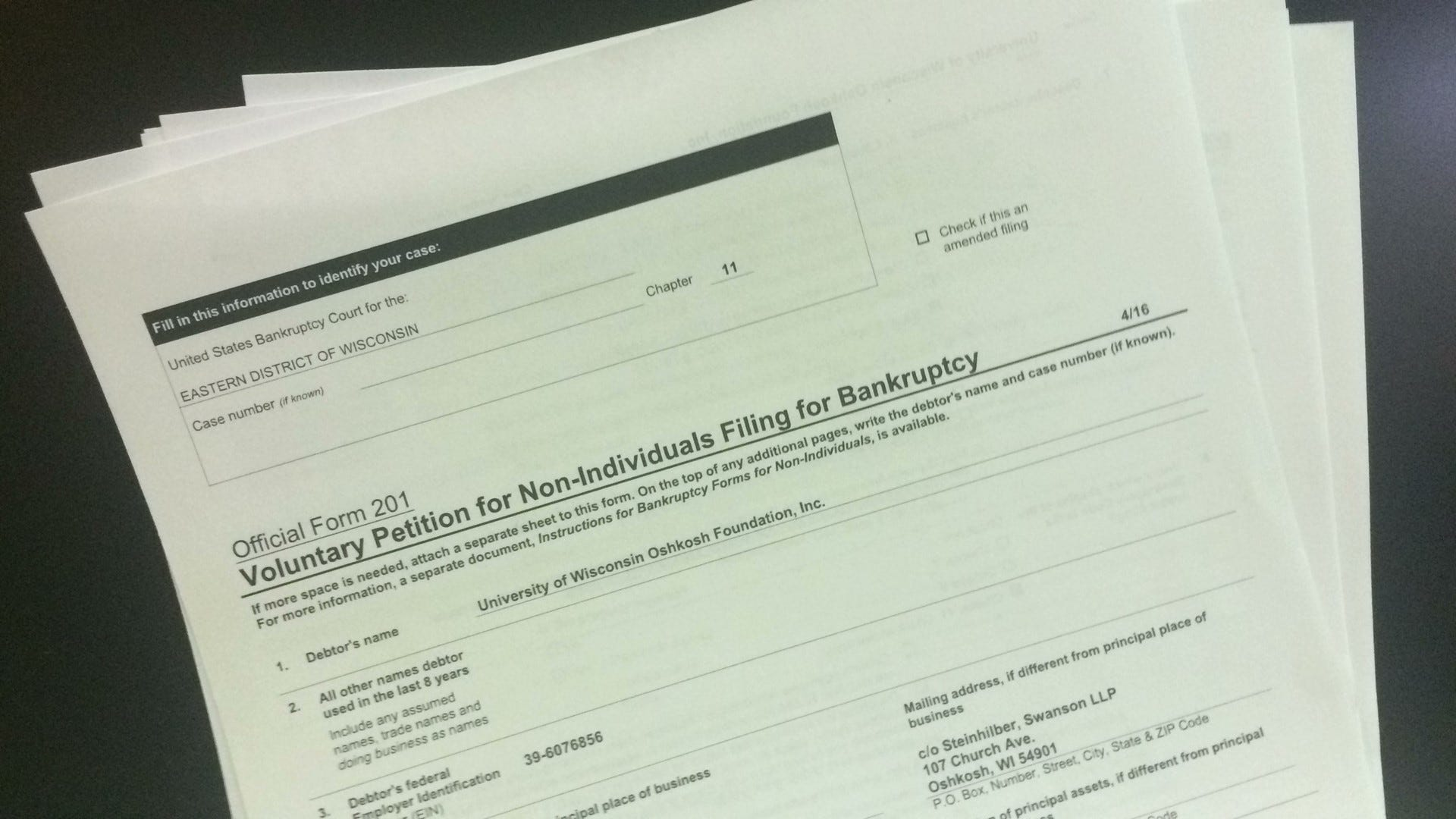 A primer on Chapter 11 bankruptcy: What does it mean for the UW-Oshkosh Foundation?