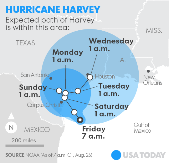 Hurricane Harvey could be a 'flooding disaster' for Texas