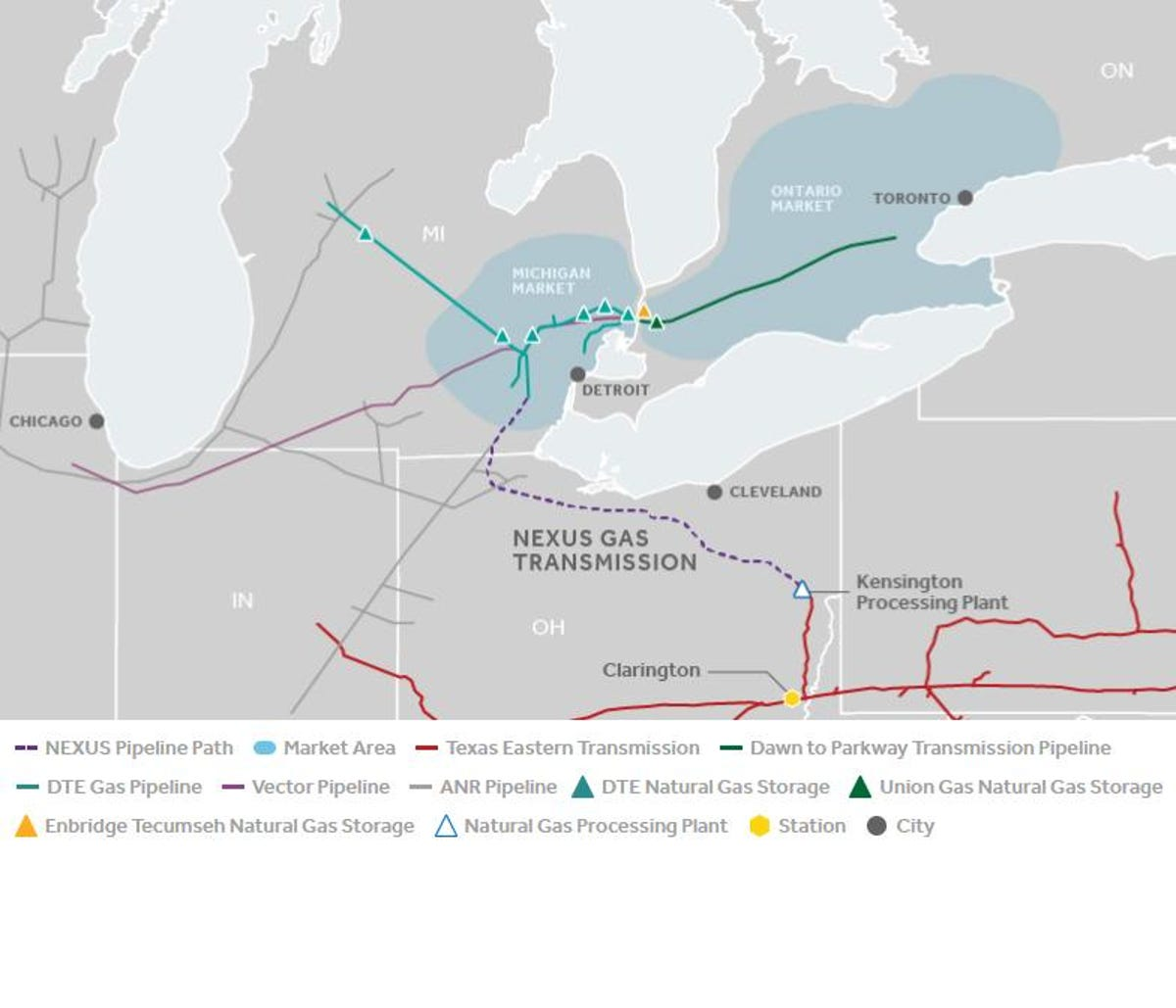 Feds OK Nexus gas pipeline project from Ohio to Mich