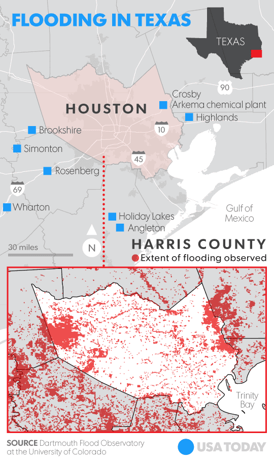 Hurricane Harvey Satellite Images Of Massive Flooding