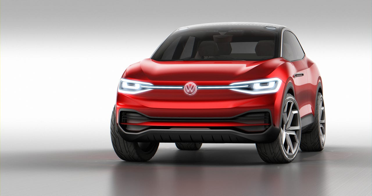 Volkswagen's ID. Crozz SUV is an electric vehicle.