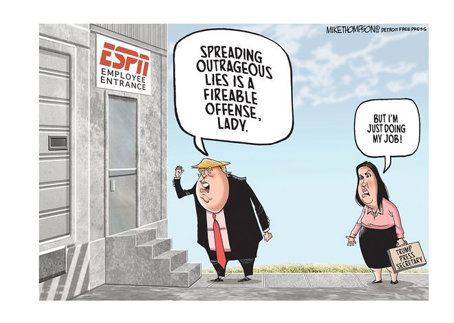 An ESPN journalist comes under attack from the Trump administration.