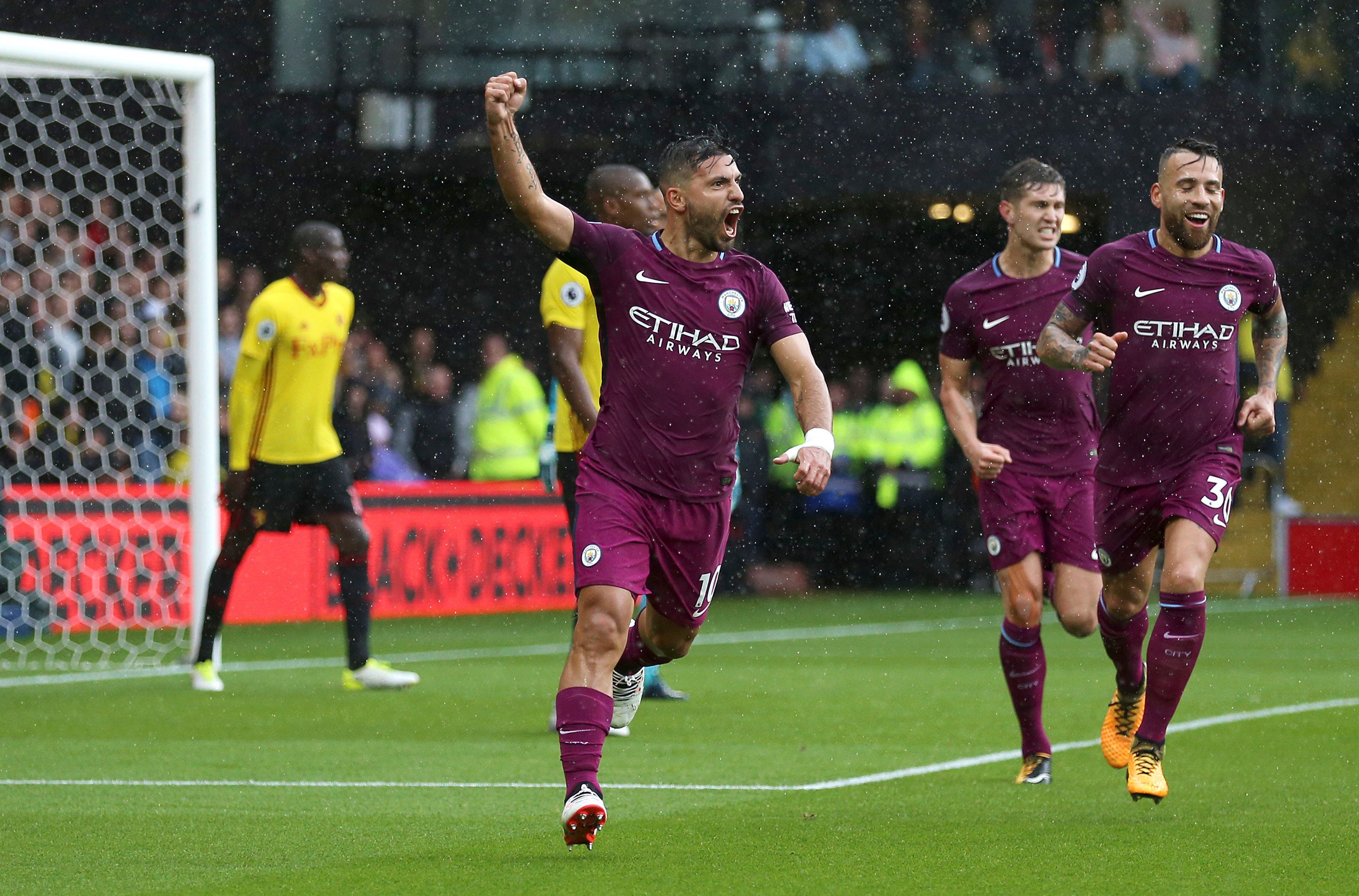 Aguero hat trick as Man City thrashes Watford 6-0 in EPL