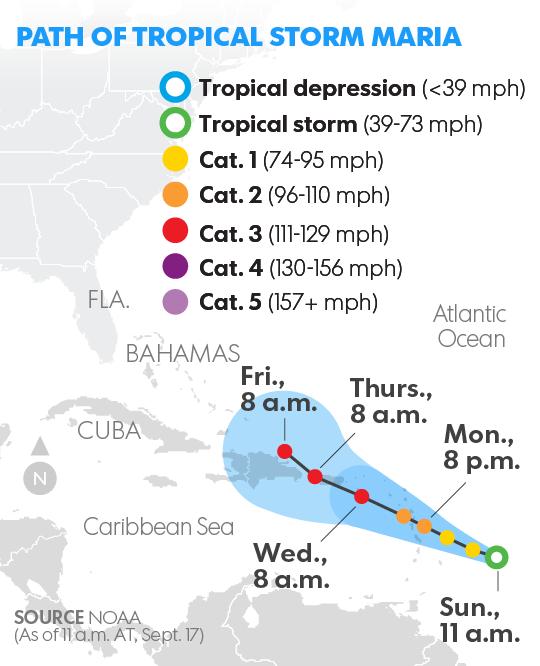Hurricane Jose ambles off U S  coast as new Tropical Storm