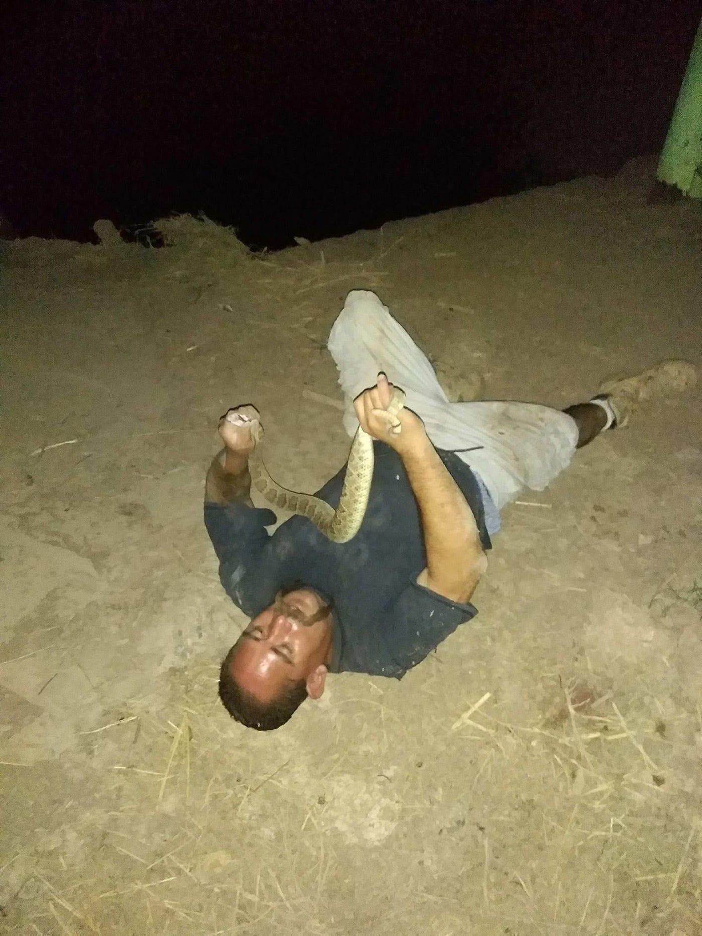 Man tries to eat rattlesnake; snake bites back
