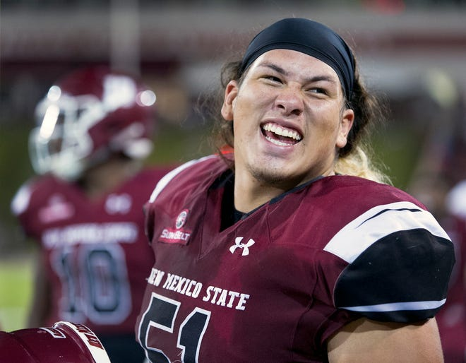 Roy Lopez and the New Mexico State defense faces the top rushing offense in the Sun Belt Conference on Saturday at Georgia Southern.