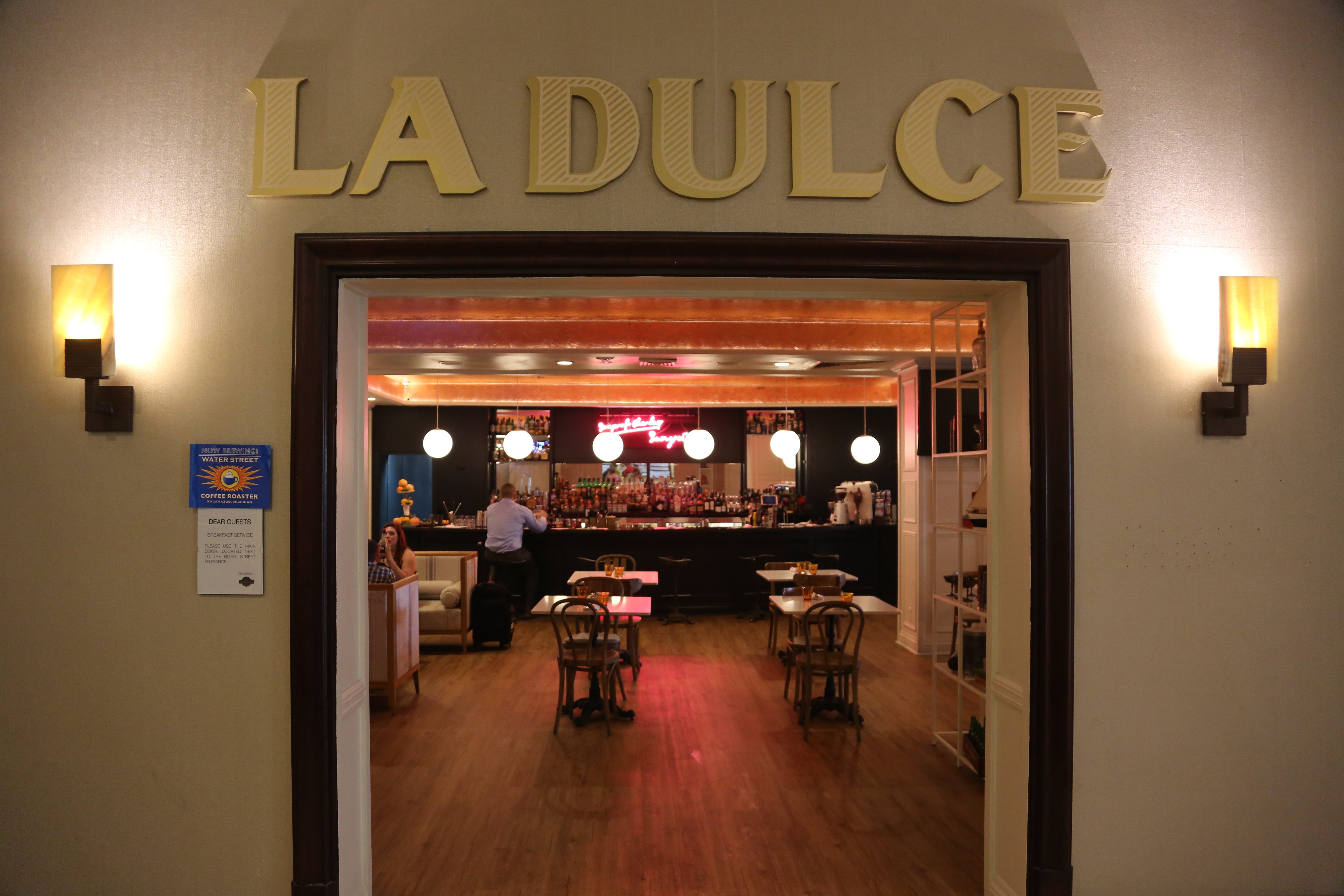 La Dulce restaurant is closing after just five months operating out of the Crowne Plaza Hotel in downtown Detroit.