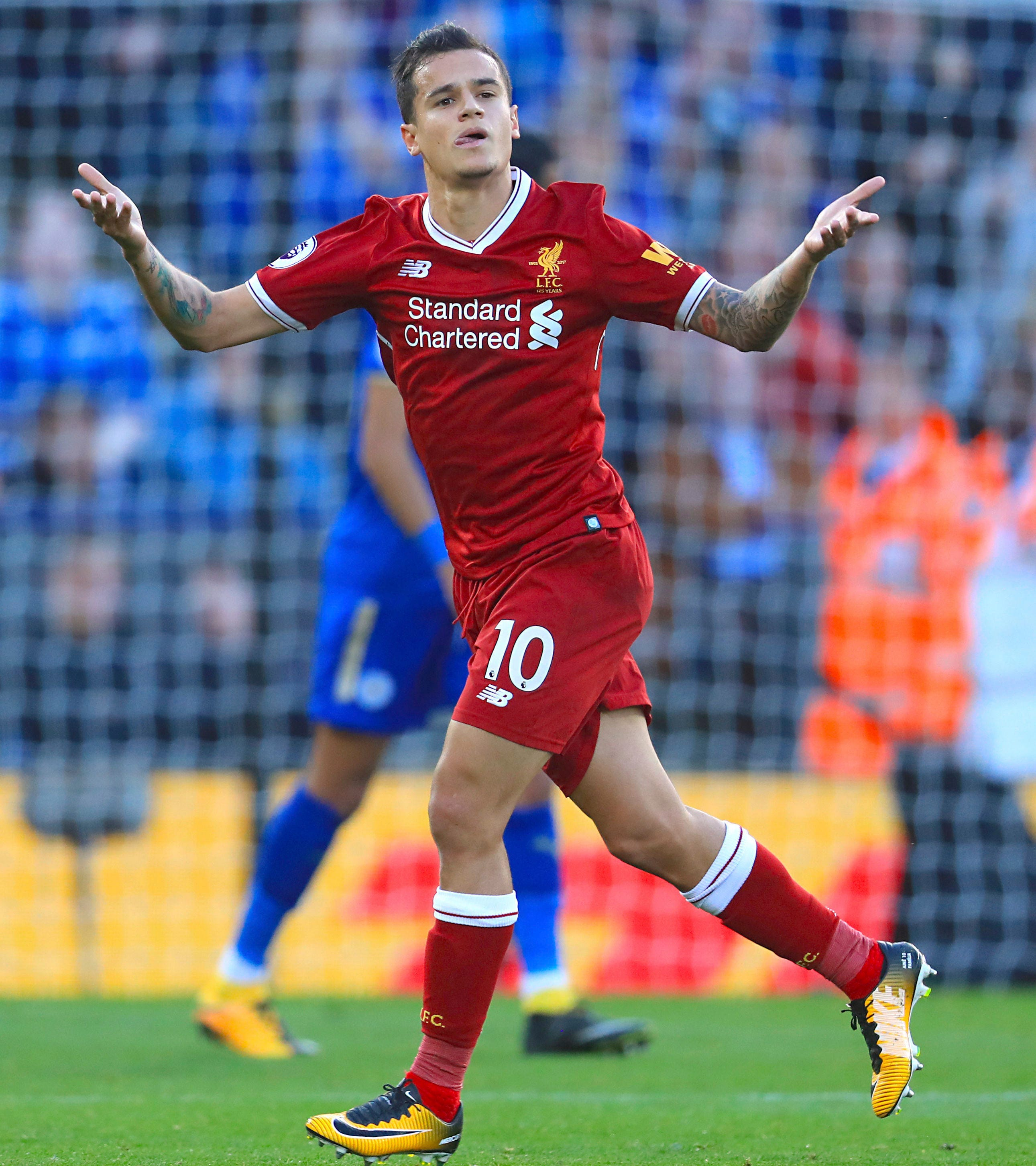 Coutinho returns to form as Liverpool wins at Leicester 3-2