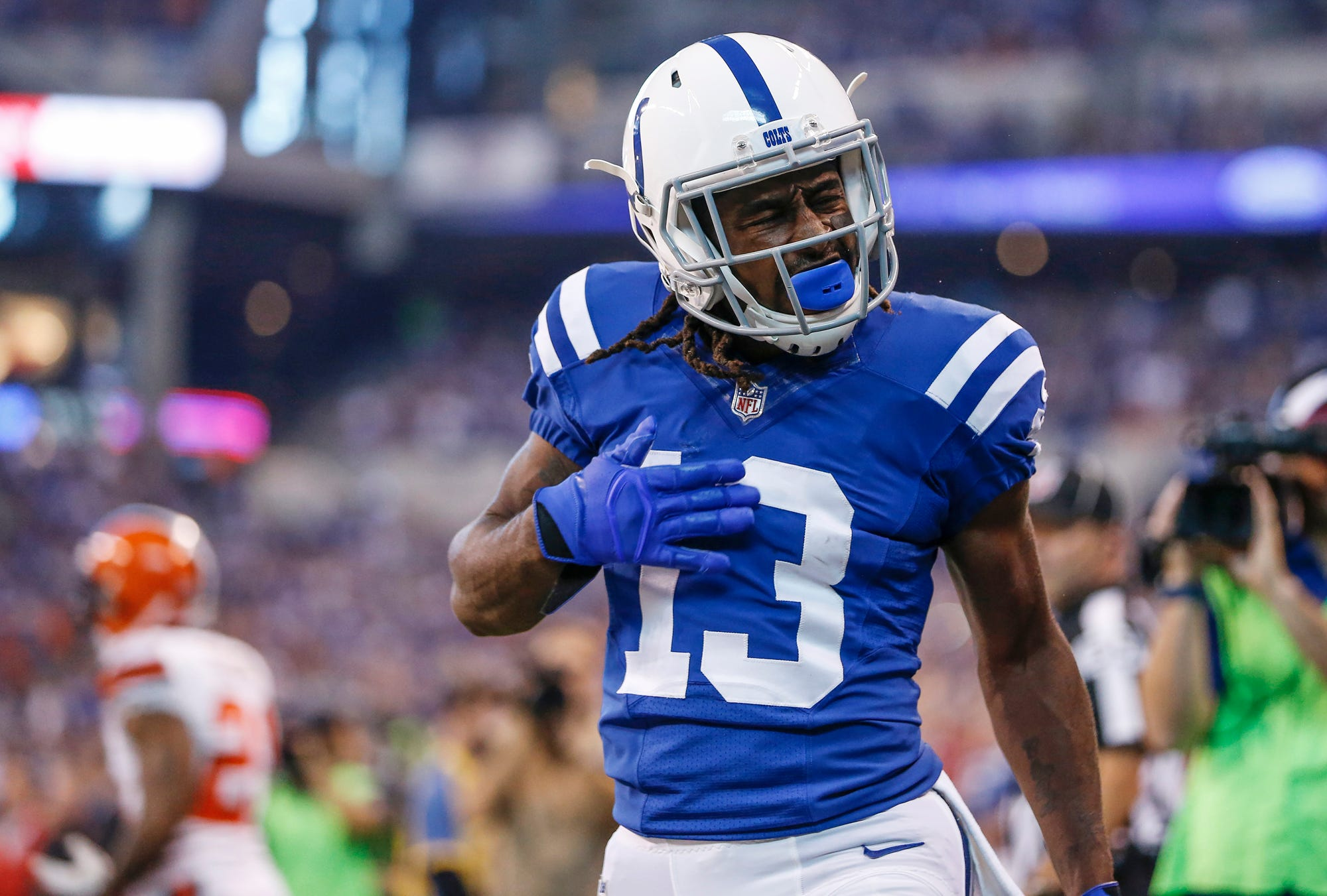 Colts' T.Y. Hilton apologizes to O-line: 'I love them to death. I was wrong'