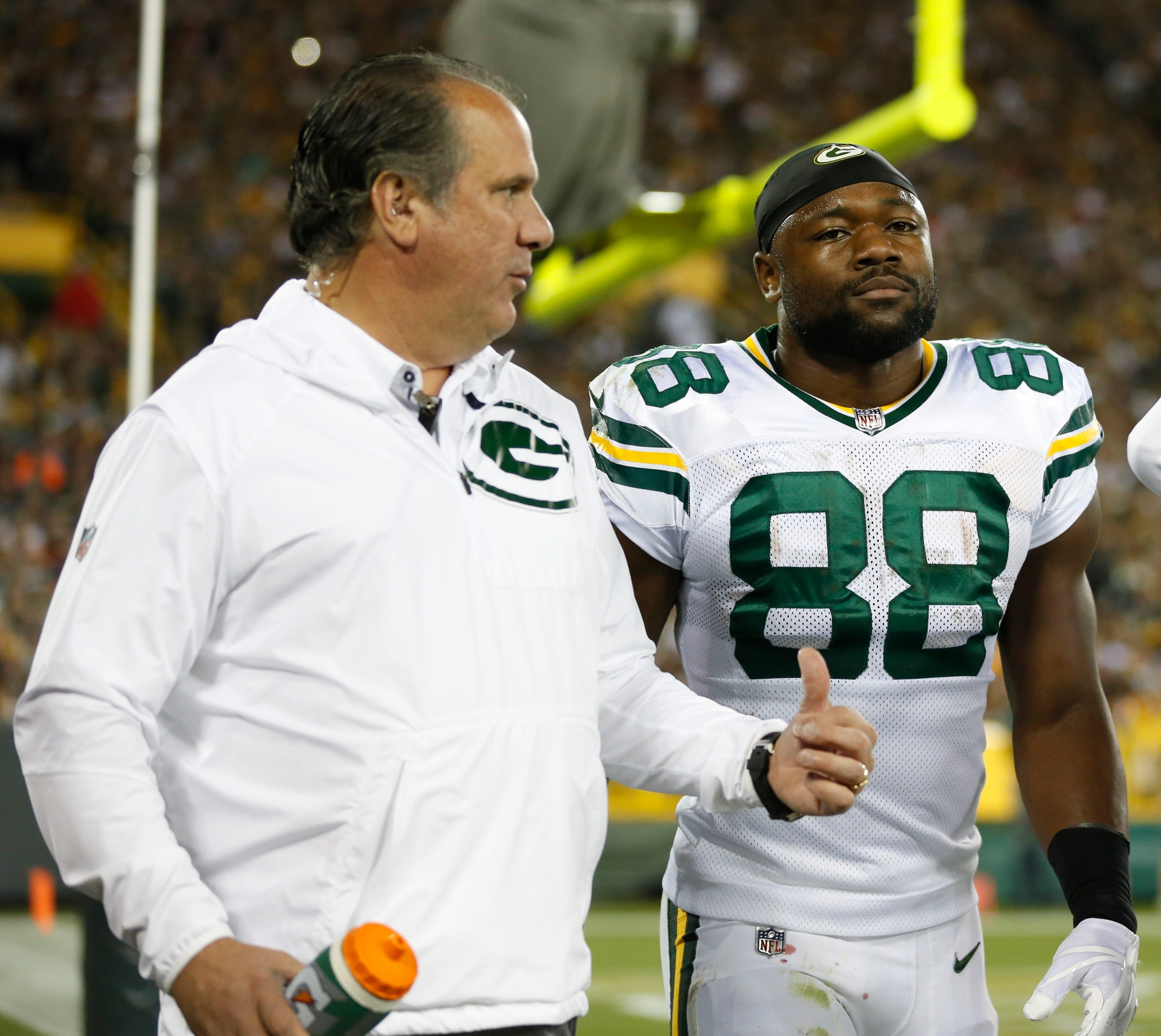 Packers' RB Ty Montgomery knocked out of Bears game