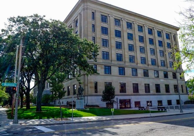 The Lewis Cass building in downtown Lansing will be renamed the Elliott-Larsen building, Gov. Gretchen Whitmer announced June 30, 2020.