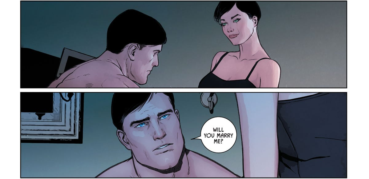 Batman gets Catwoman's answer to his marriage proposal