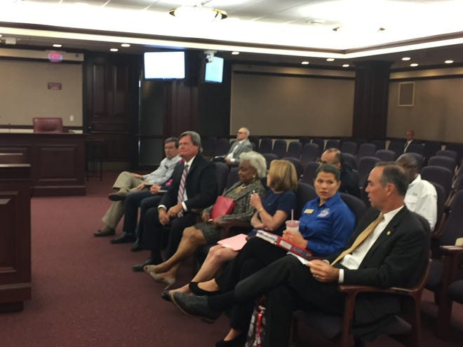 Florida Supervisors of elections wait to testify before the Constitution Revision Commission Elections Committee.