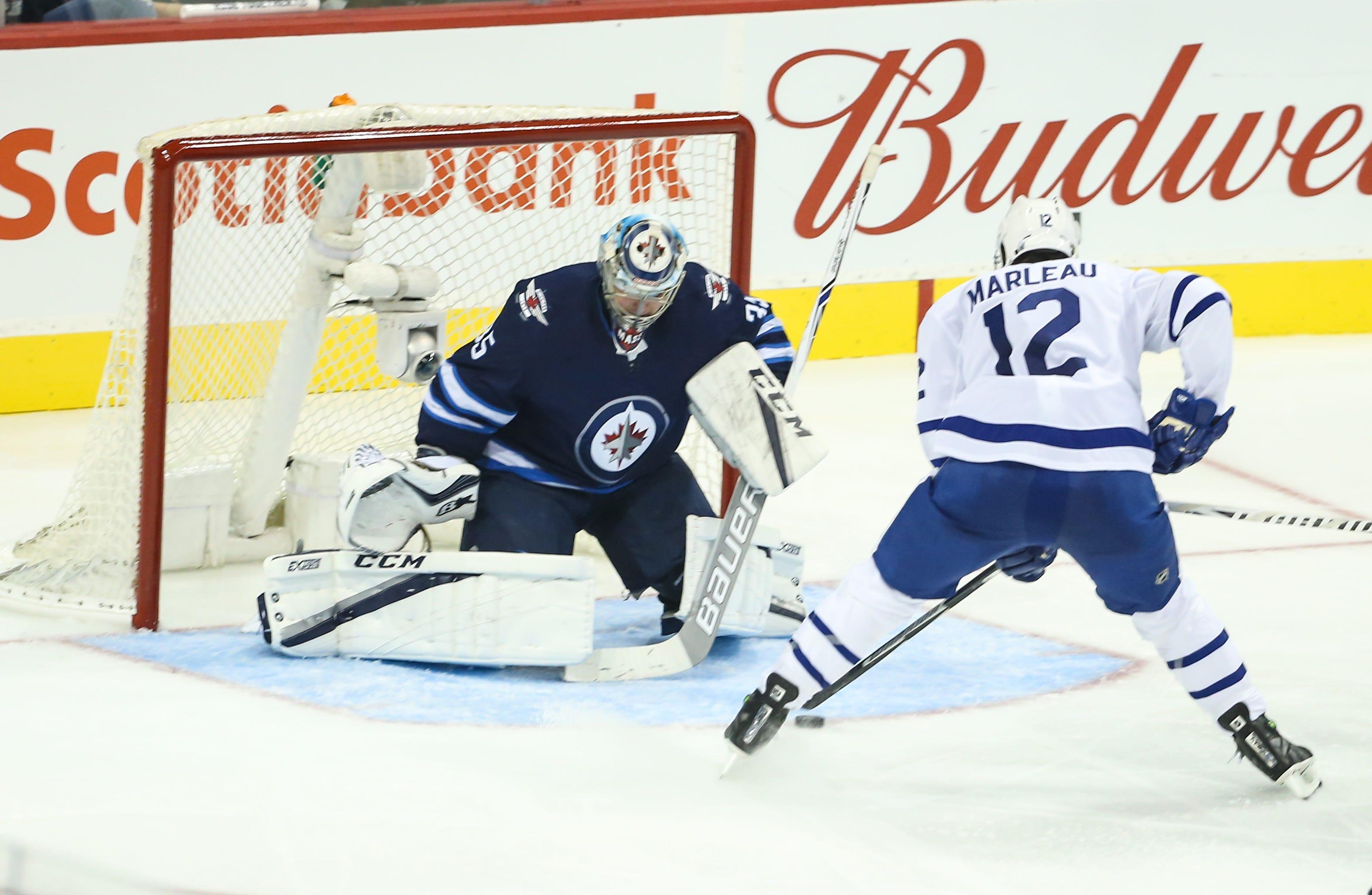 Patrick Marleau scores twice in Toronto Maple Leafs' debut