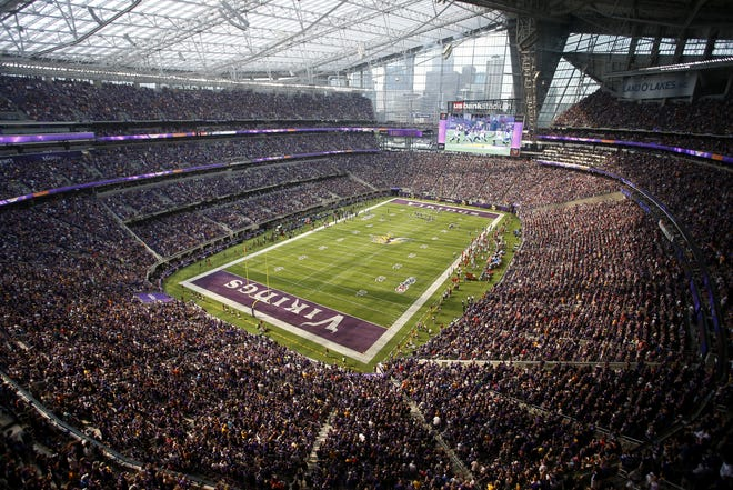 The Green Bay Packers lost 17-14 to the Minnesota Vikings last season in the first-ever regular-season game at U.S. Bank Stadium. The Packers return to U.S. Bank Stadium, the site of the next Super Bowl, on Oct. 15.