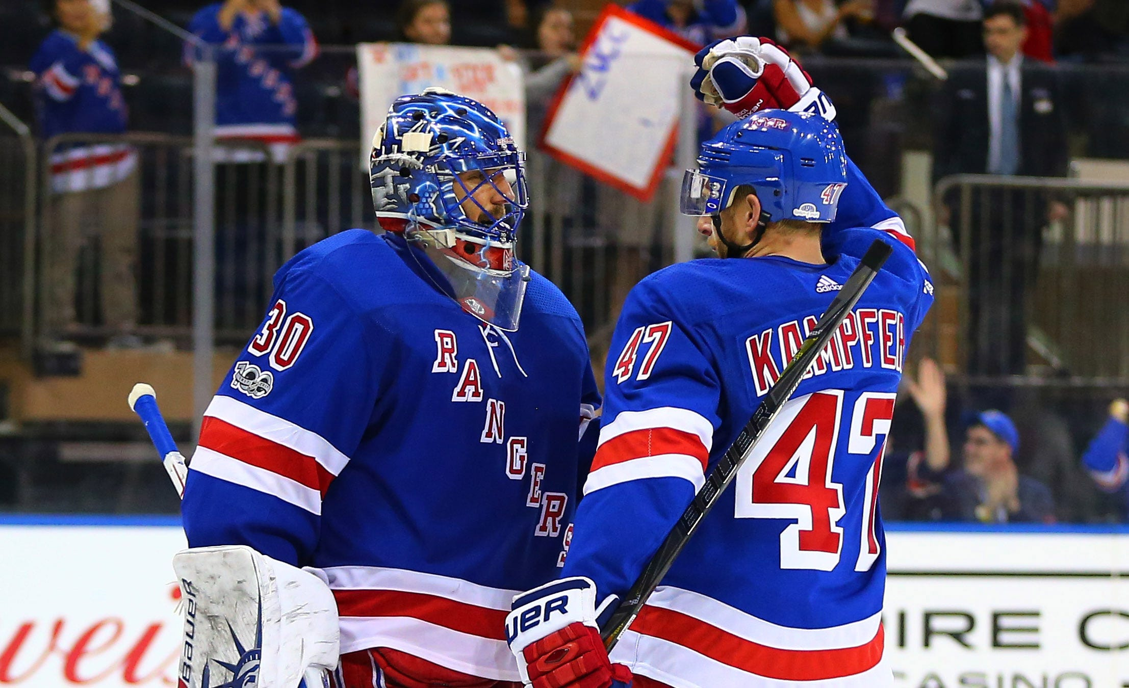 Henrik Lundqvist blanks Canadiens for Rangers' first win