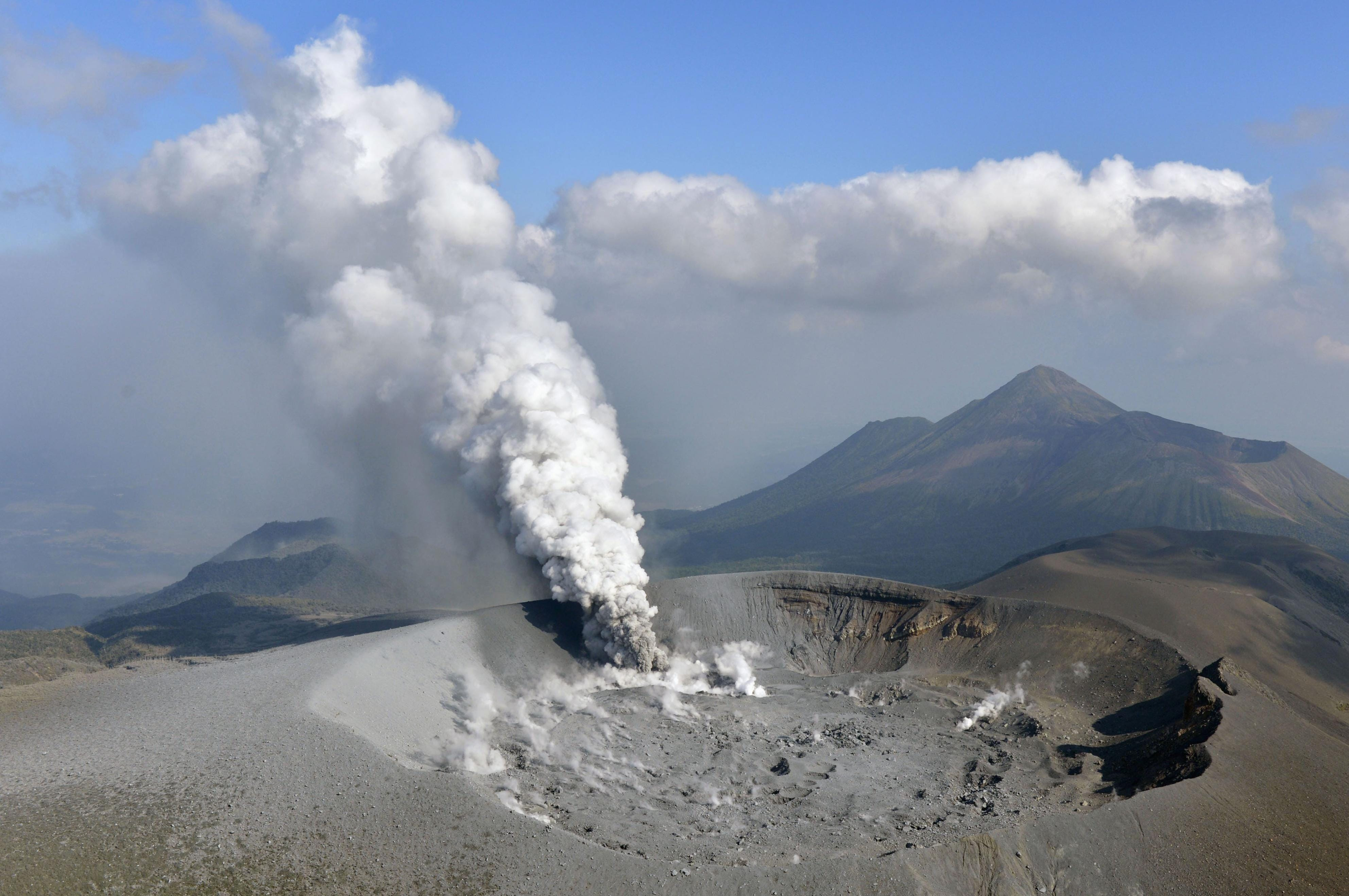 Volcanic eruption in Japan spreads ash in cities, towns
