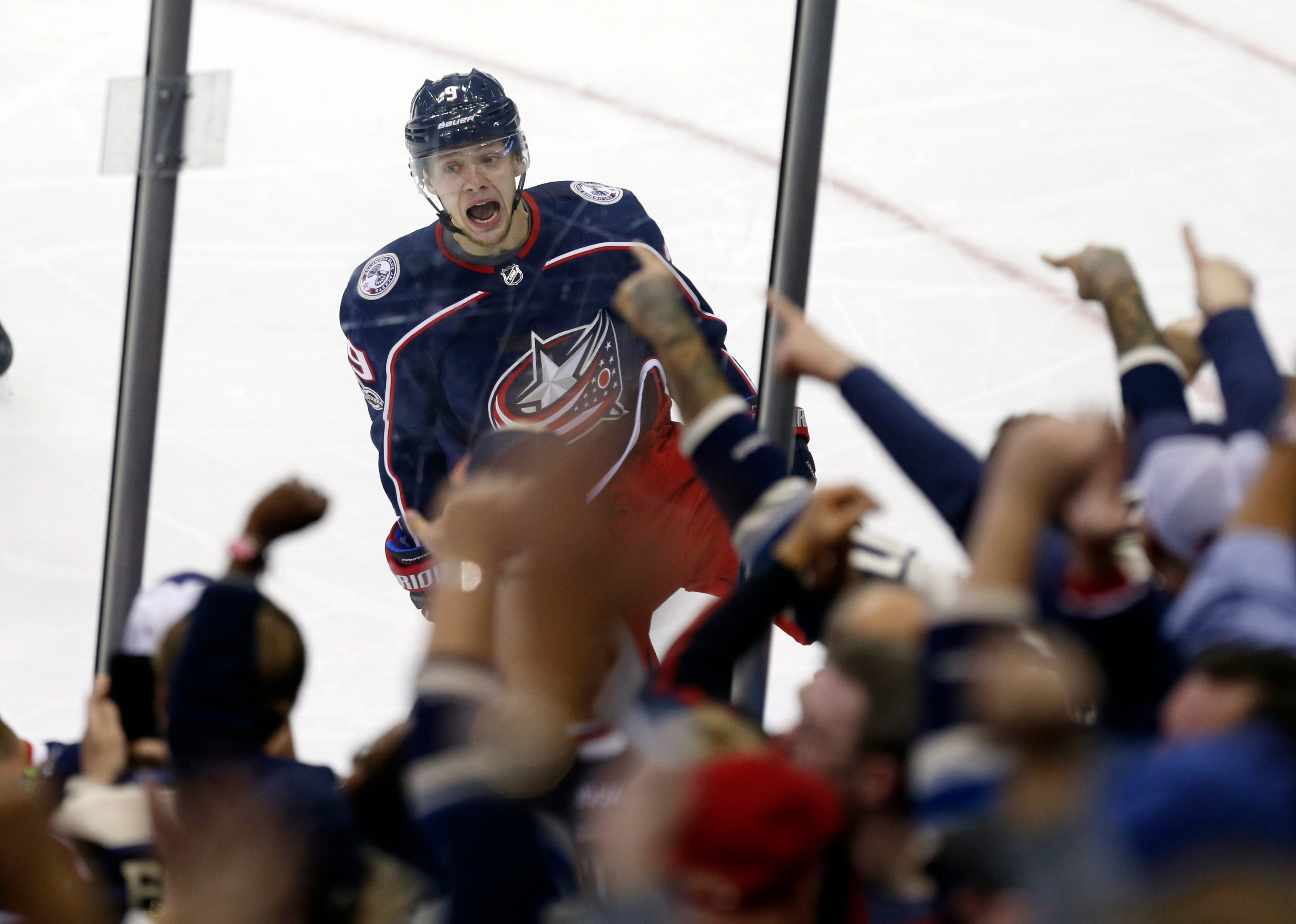 Panarin gets 1st goal, Blue Jackets rally to top Rangers 3-1