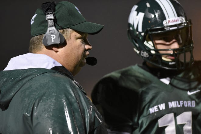 New Milford head coach Bill Wilde and QB Ryan Picinic will try to lead the No. 1 Knights past No. 5 Hasbrouck Heights in the North 1, Group 1 semifinal on Friday night.