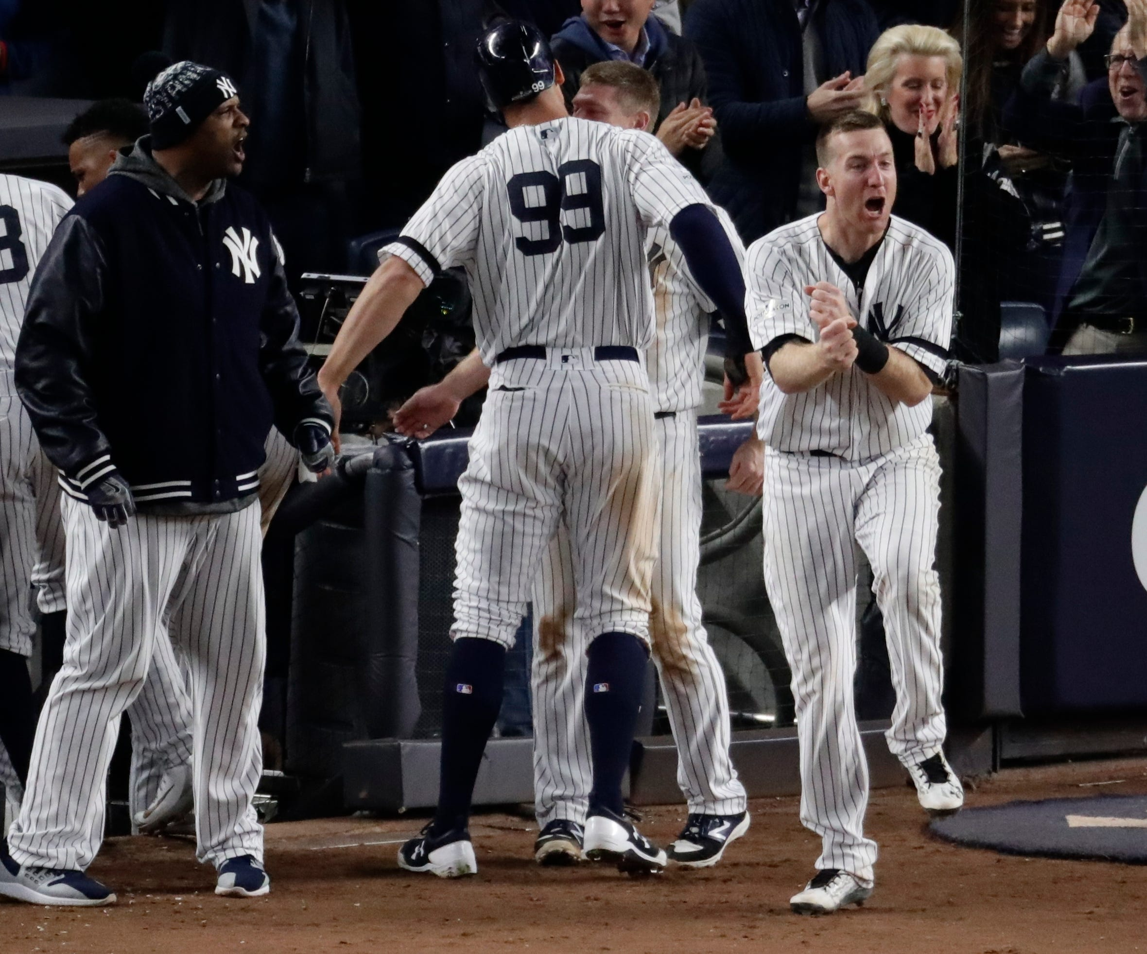 ALCS: Judge homers, doubles as Yankees even series with Astros