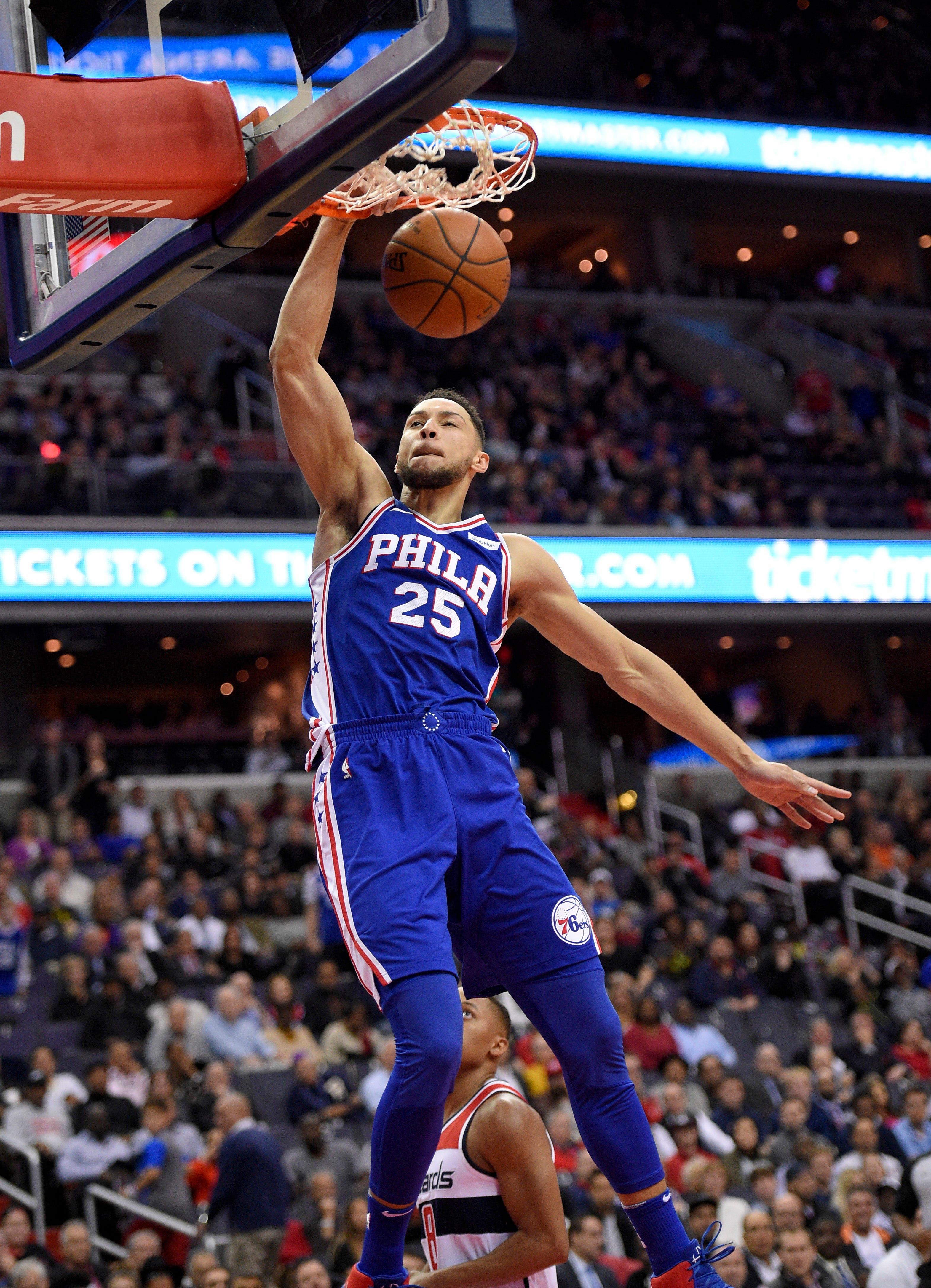 76ers Ben Simmons Gives Glimpse Of Whats To Come With S