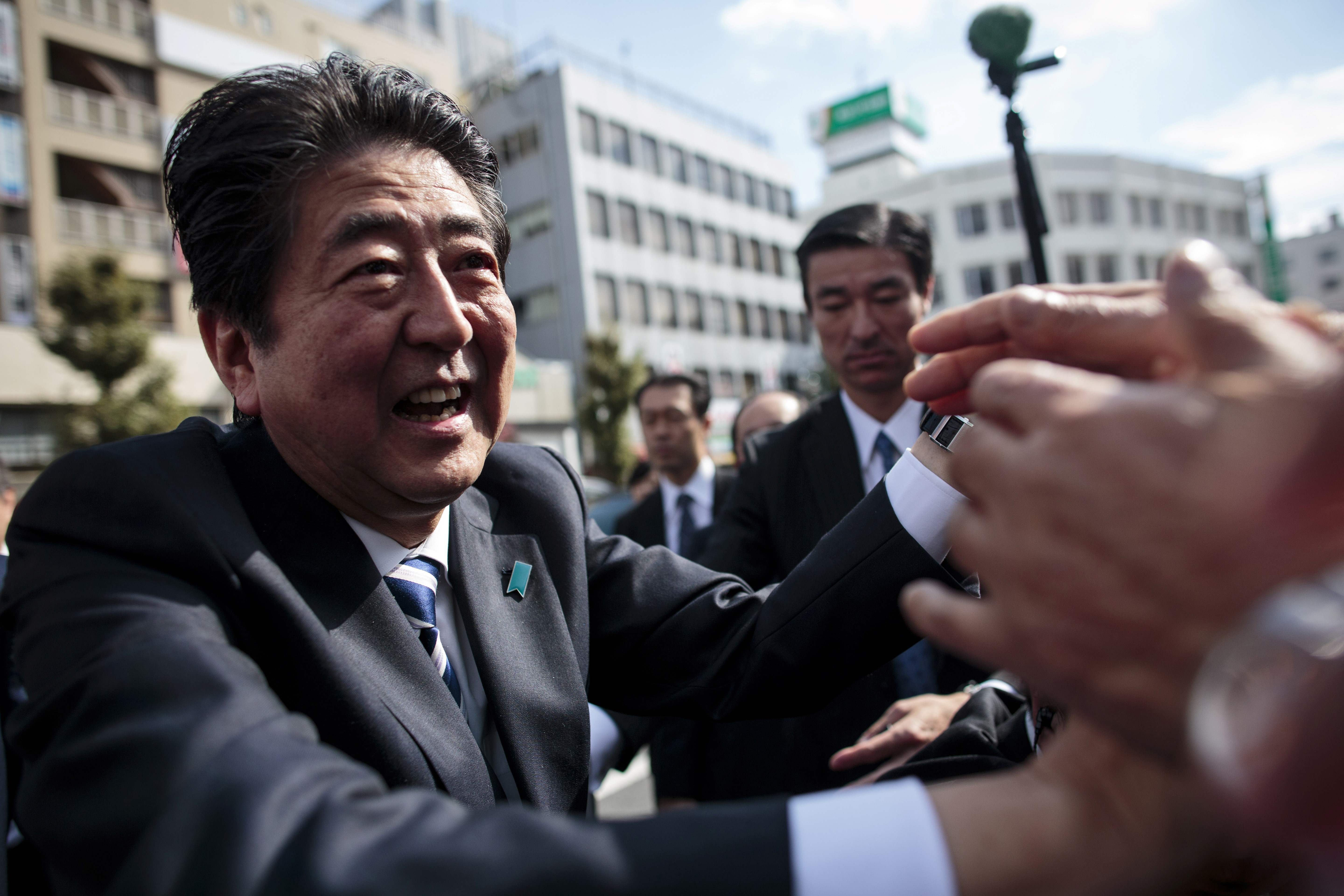North Korea crisis gives boost to Japanese Prime Minister Shinzo Abe before election