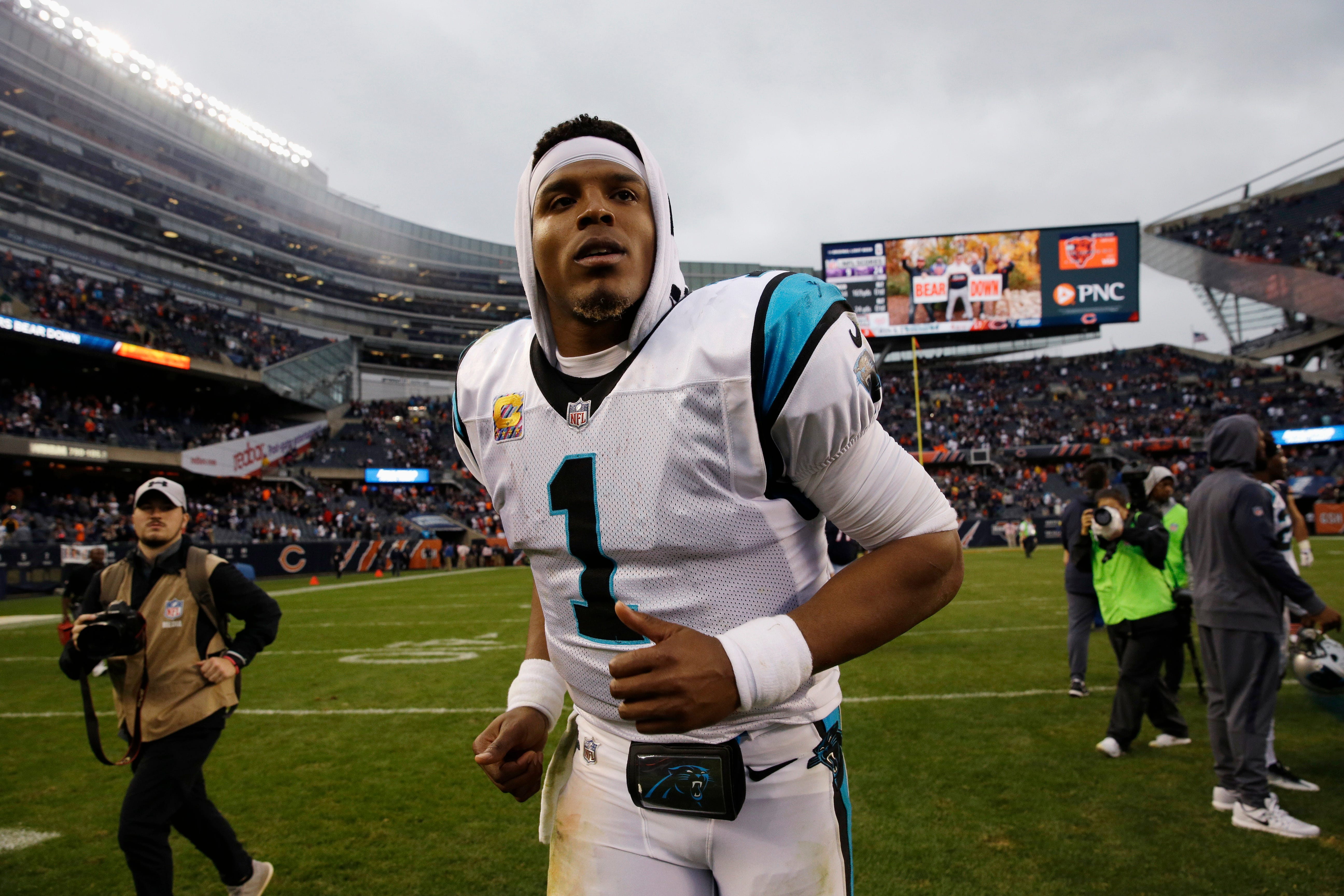 Panthers QB Cam Newton walks out of another news conference