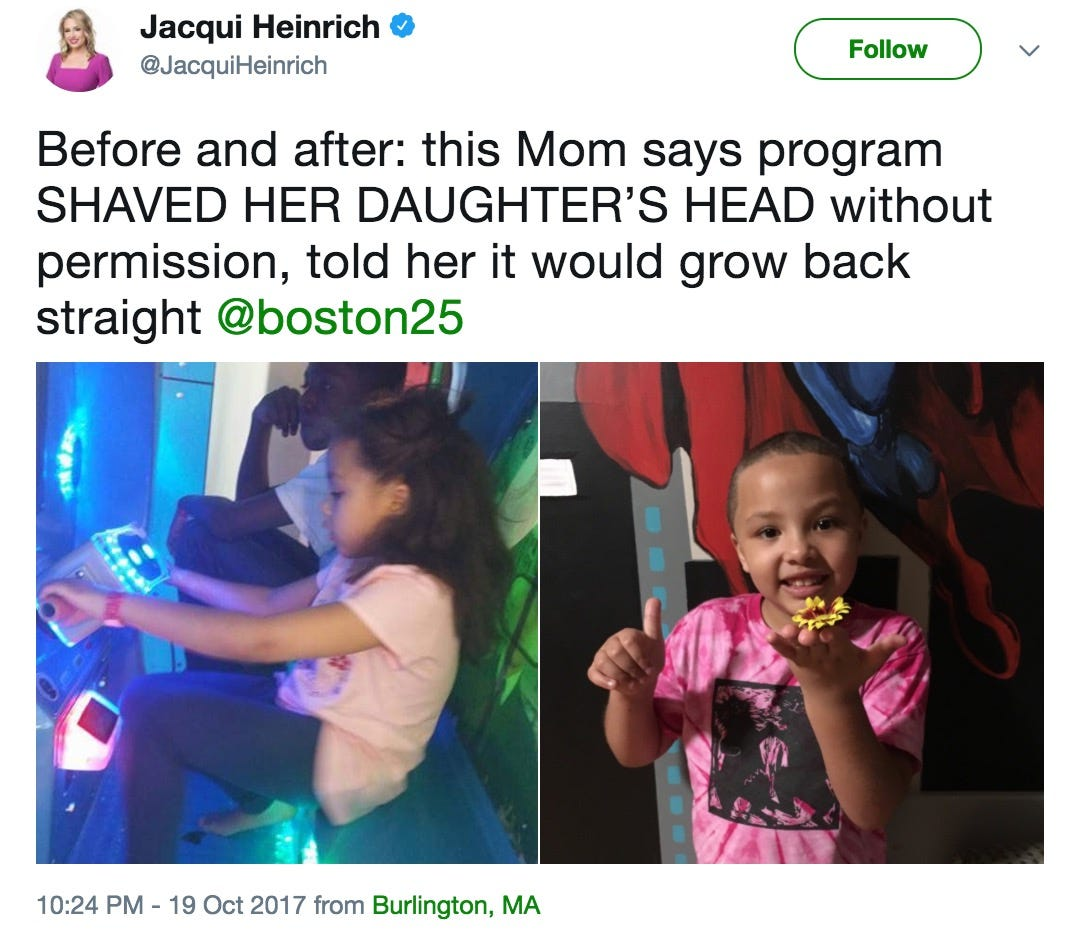 School shaved 7-year-old girl's head without mom's permission, reportedly  said 'it will grow back straight'