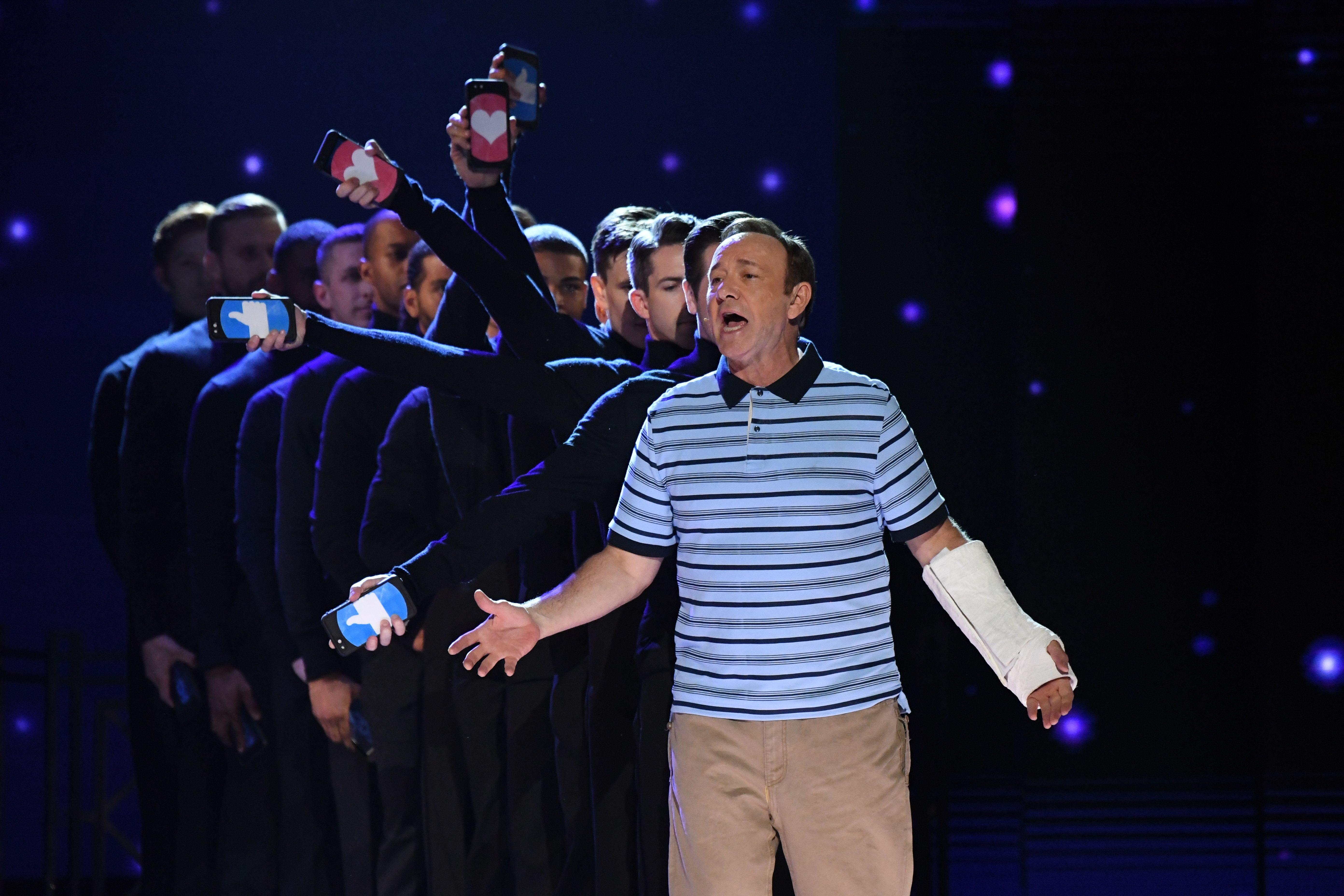 Jun 11, 2017; New York, NY, USA; Kevin Spacey performs