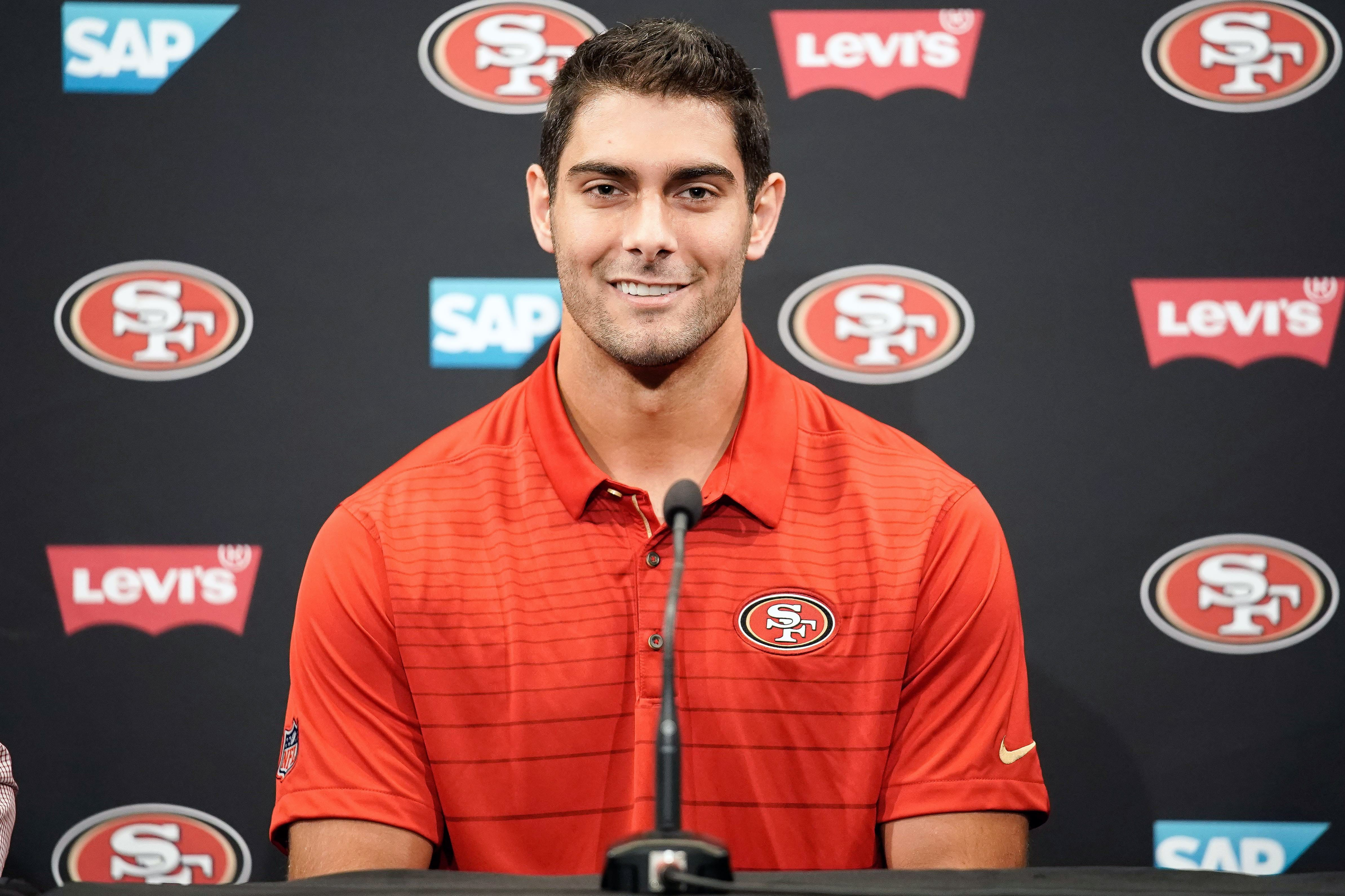 49ers coach on Jimmy Garoppolo: 'I can't promise he'll play this year'