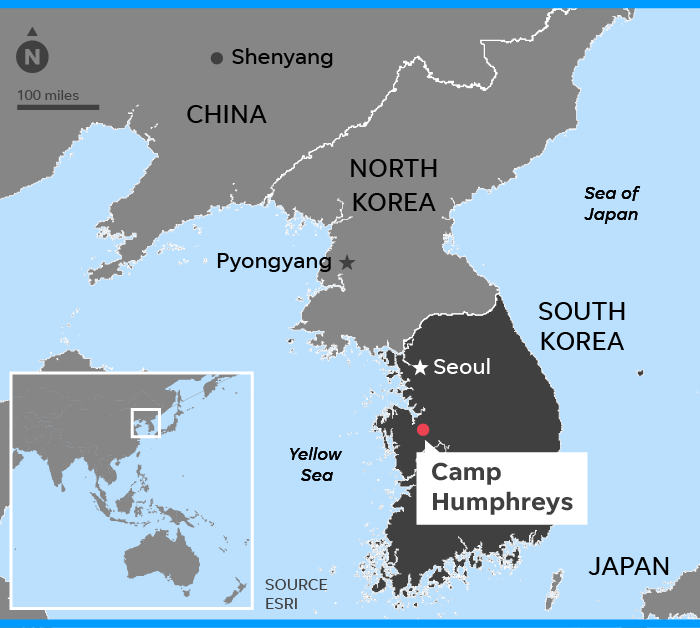 Camp Humphreys, South Korea: New U.S. base buzzing about North Korea