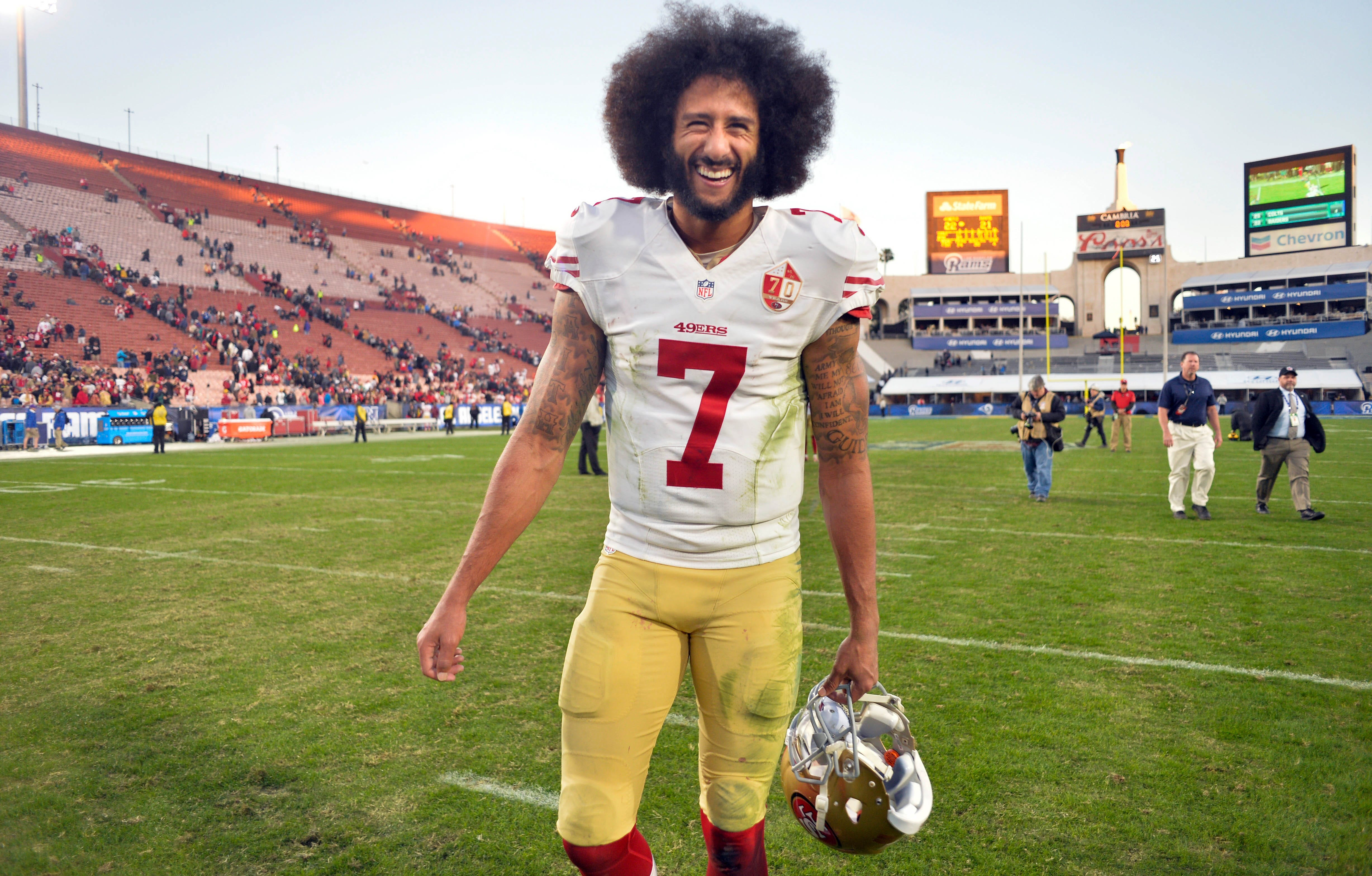 'GQ' magazine names Colin Kaepernick its Citizen of the Year