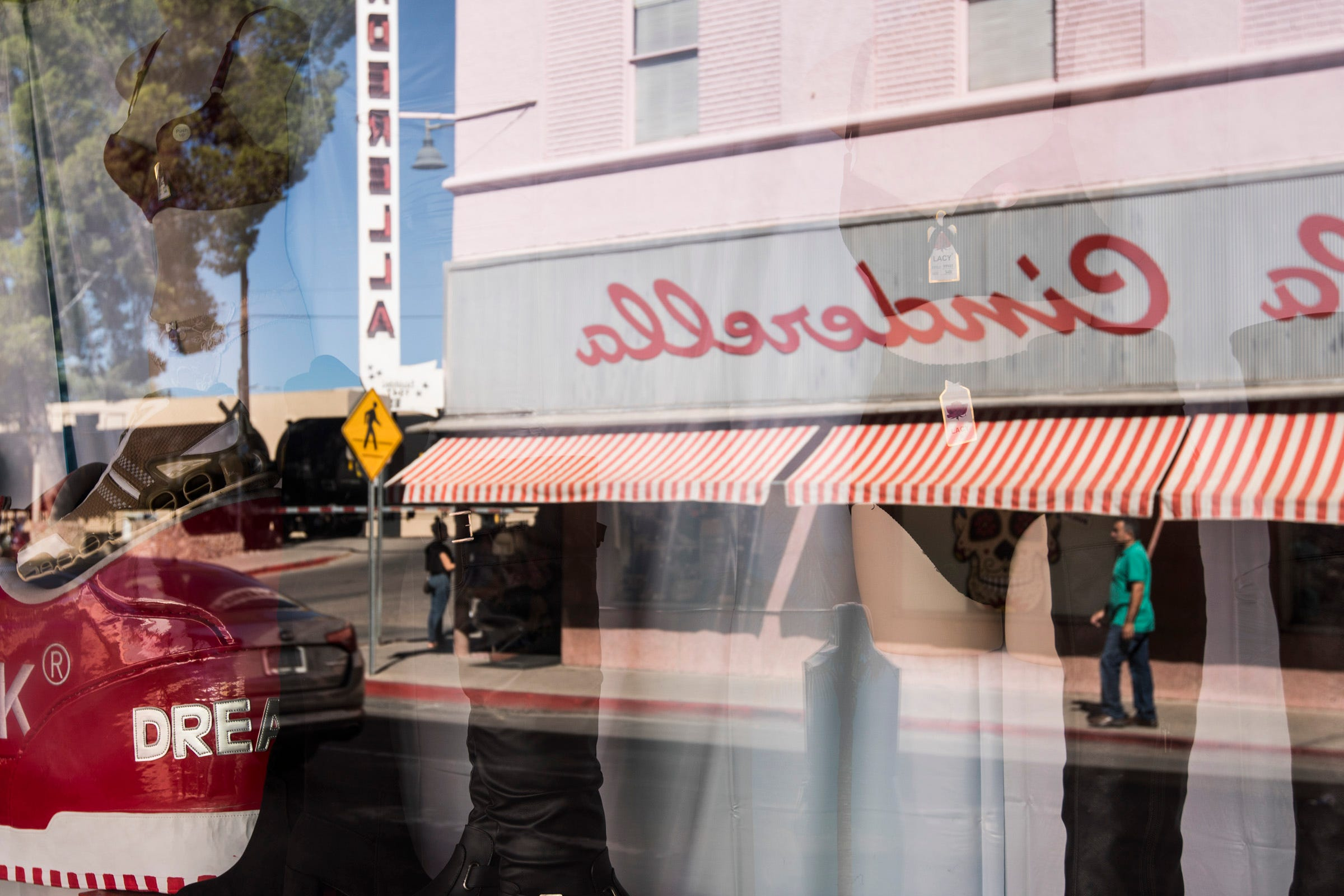 Mexican nationals shop in downtown Nogales, Arizona.