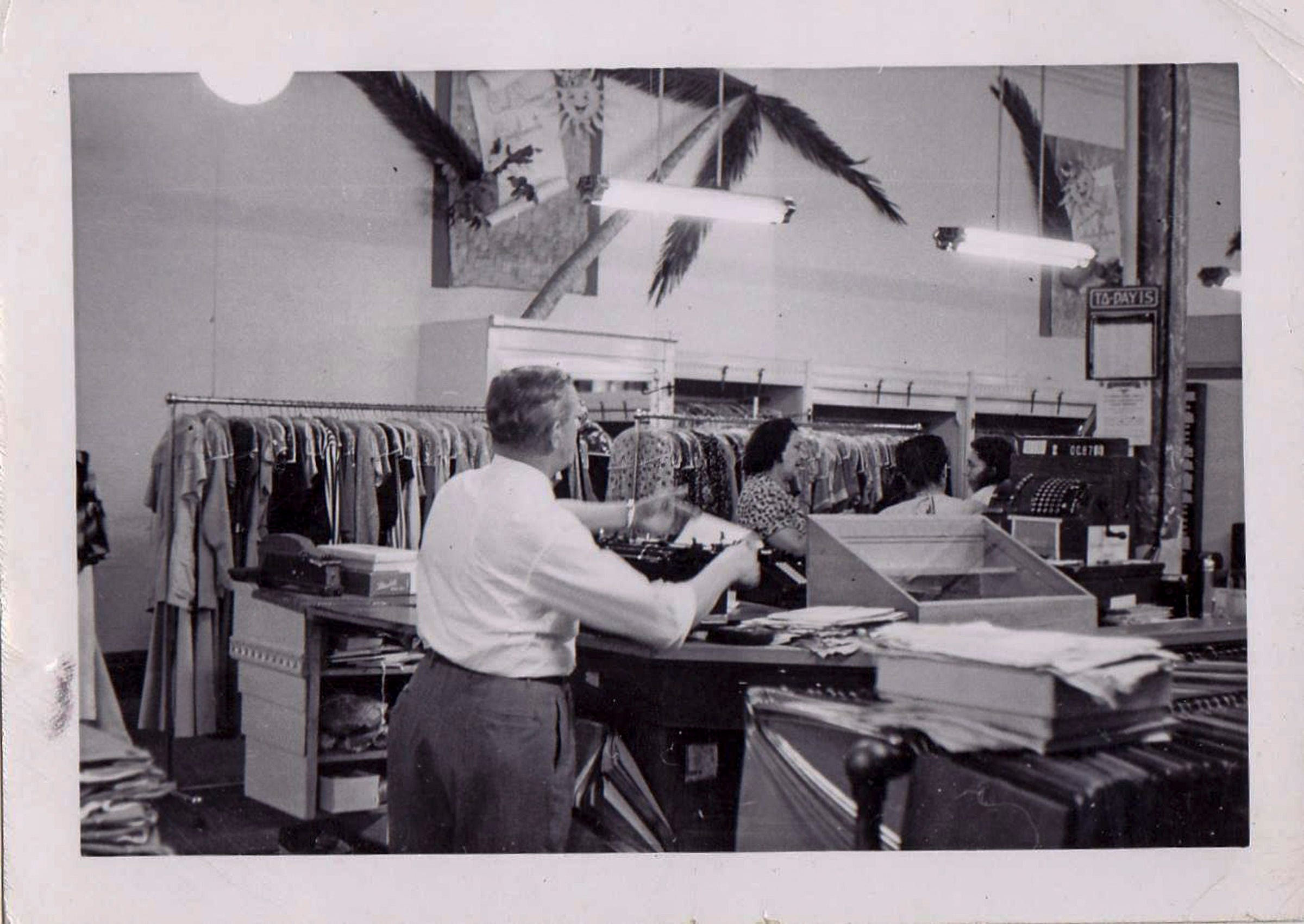 An undated photo of Charlie Bracker at the store's