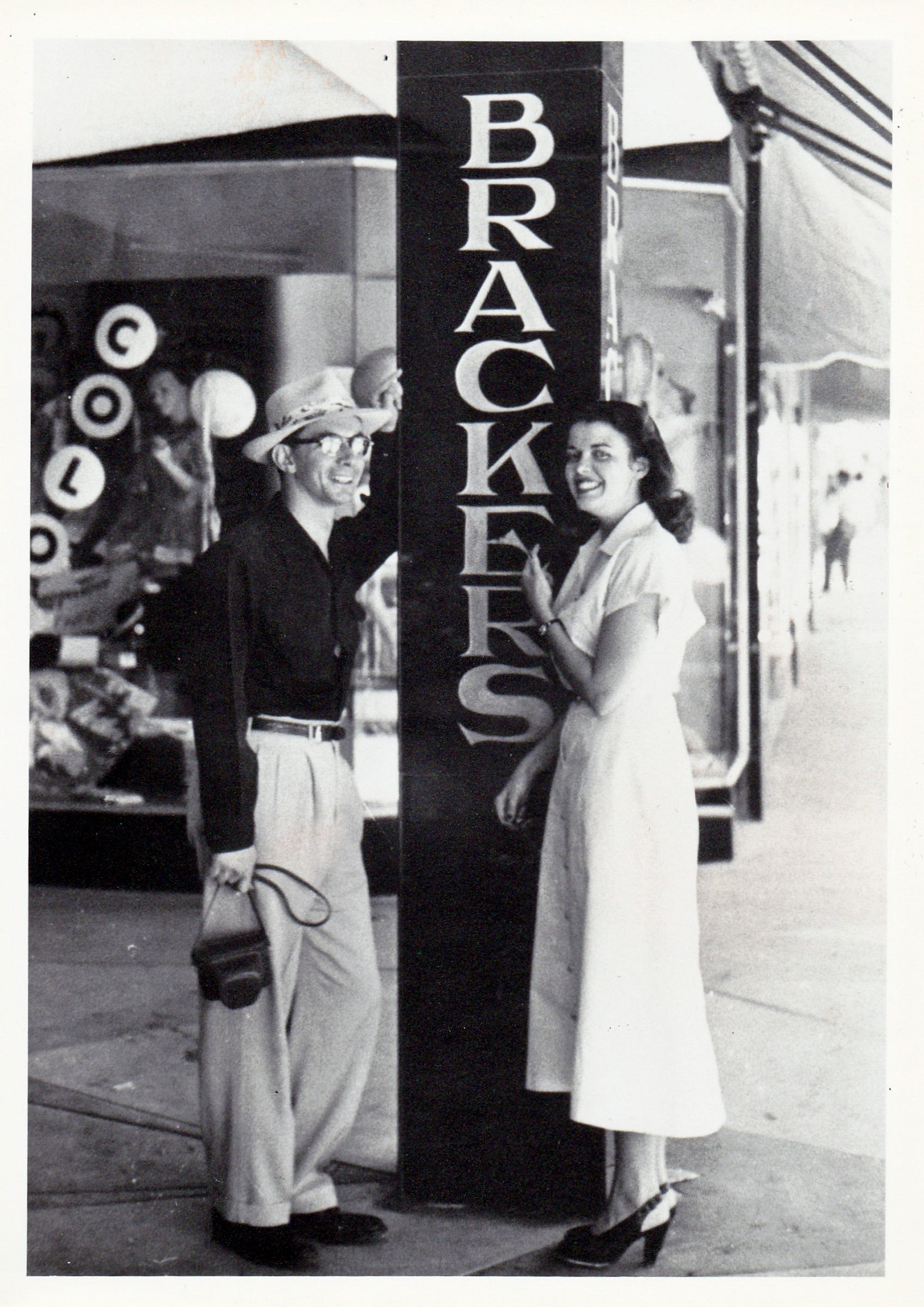 An undated photo of Harvey and Laurie Bracker in front