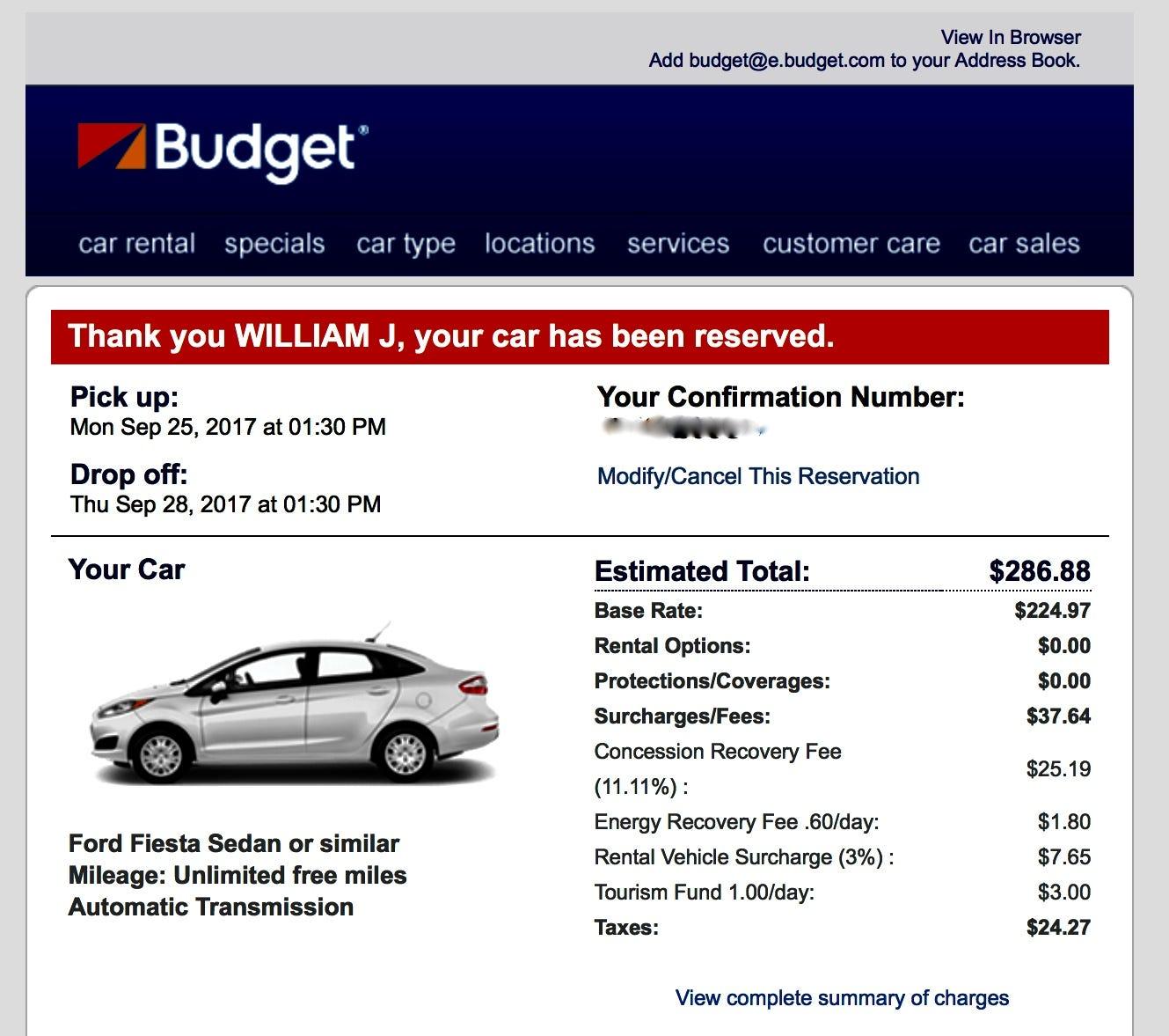 Car Rental New Haven Budget