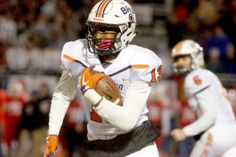 Trey Knox, a receiver for Blackman, is considered one of the top football recruits in Middle Tennessee and a 2018 Dandy Dozen selection.