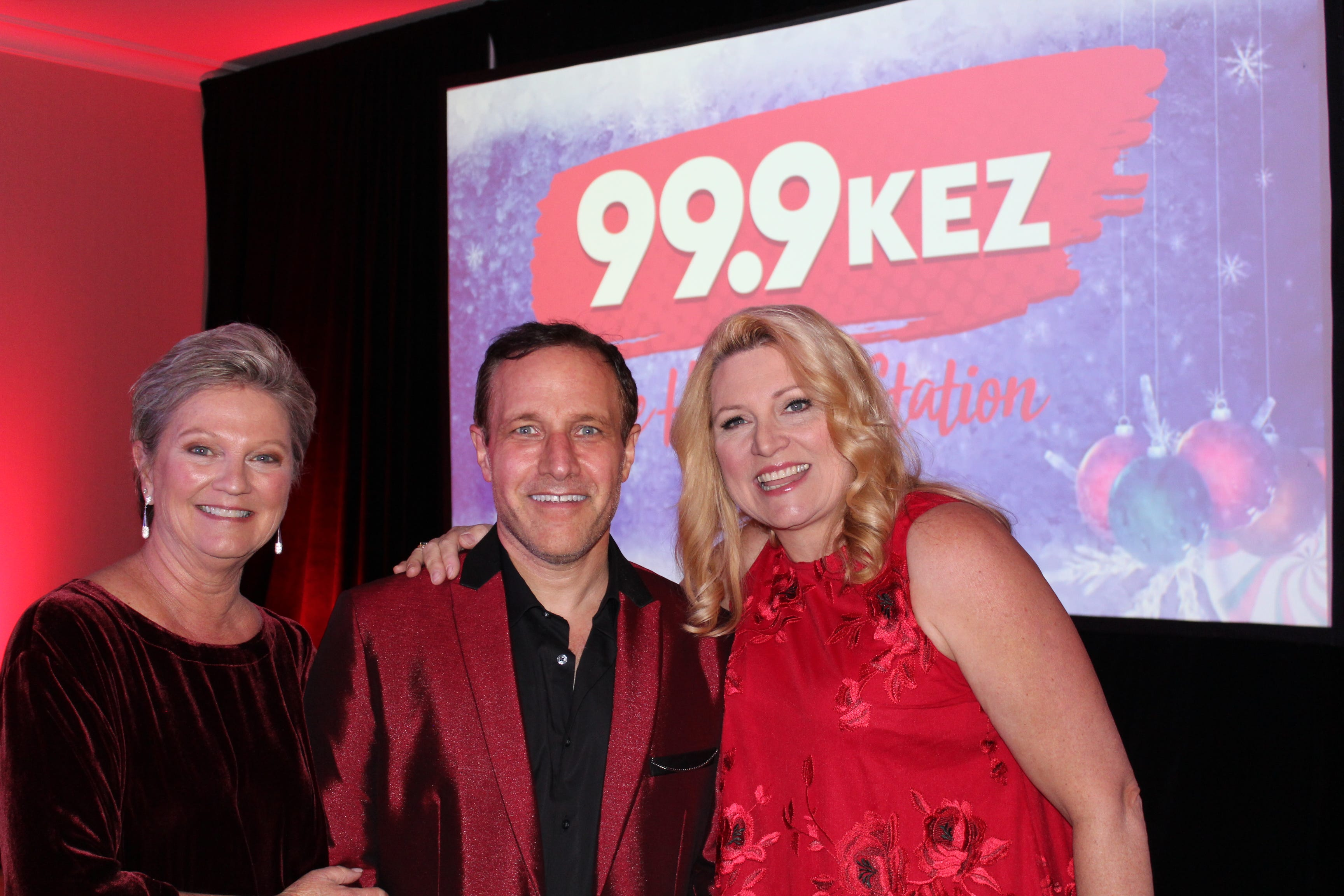 KEZ (99.9 FM) personality Beth McDonald (from left),