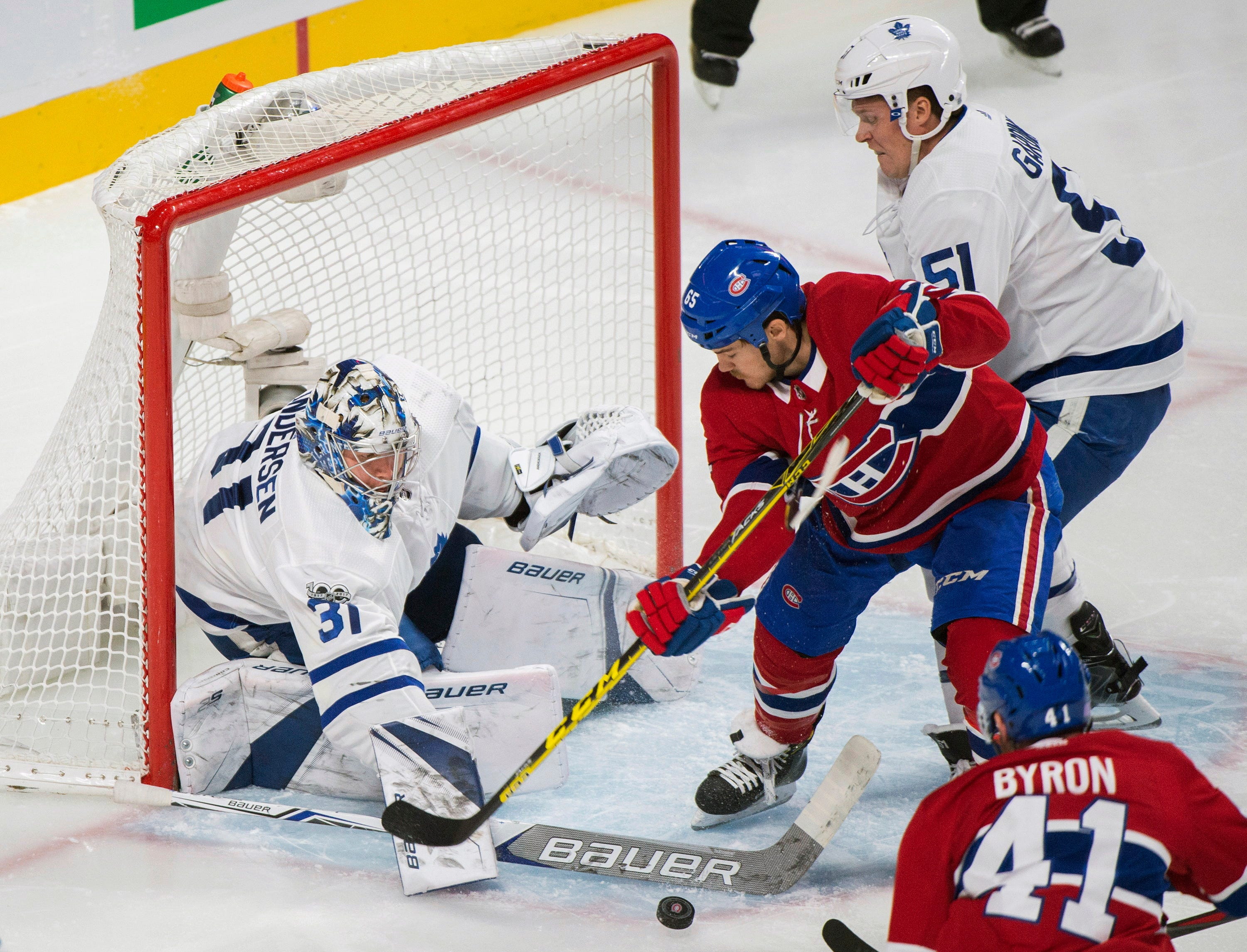 Matthews, Andersen lead Maple Leafs past Canadiens, 6-0