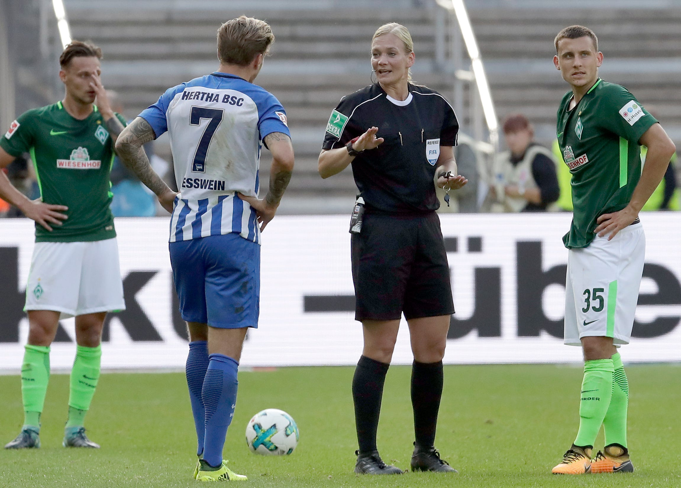 The referee breaking unseen barriers for women in soccer