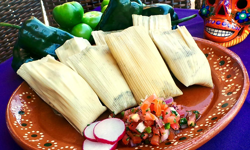 Tamales at Barrio Queen.