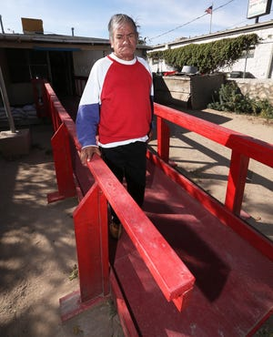 Jose Silva, then 70, is shown in November 2017, when he was getting in and out of his home much better thanks to a long ramp constructed in his backyard.