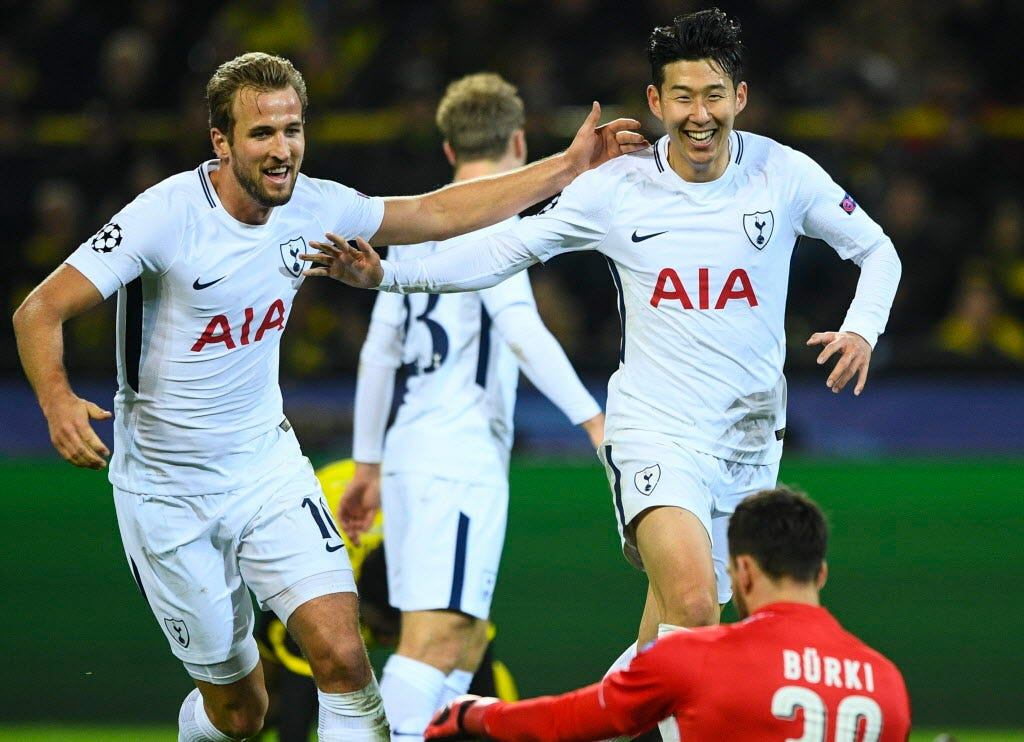 Tottenham rallied past Borussia Dortmund to win its Champions League group